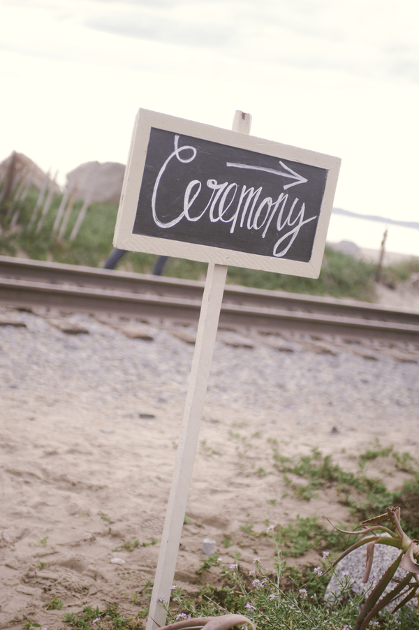 www.santabarbarawedding.com | By Cherry Photography | Rincon Beach Club | Wedding Signage