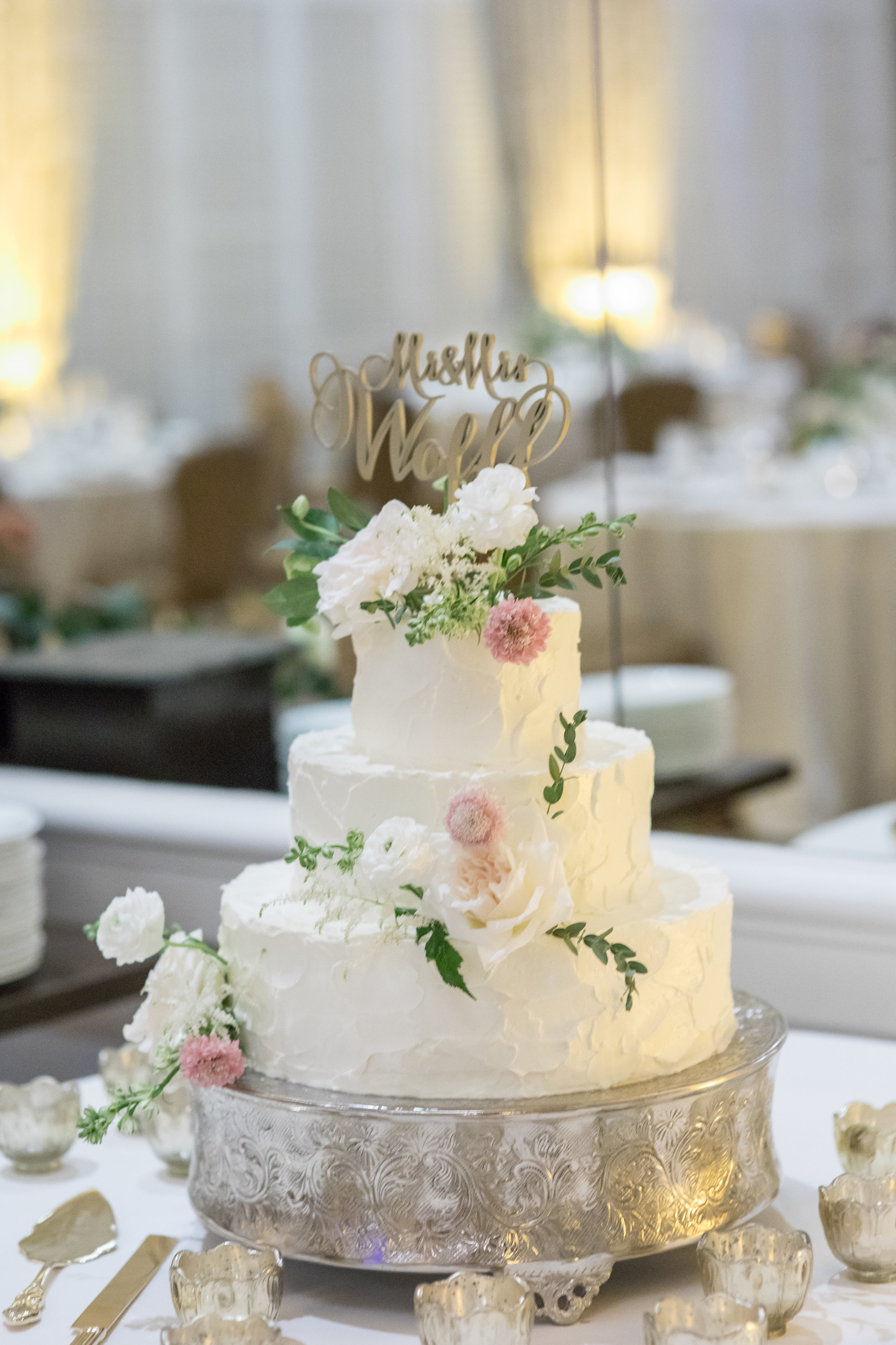 www.santabarbarawedding.com | Waller Weddings | KB Events | Wedding Cake