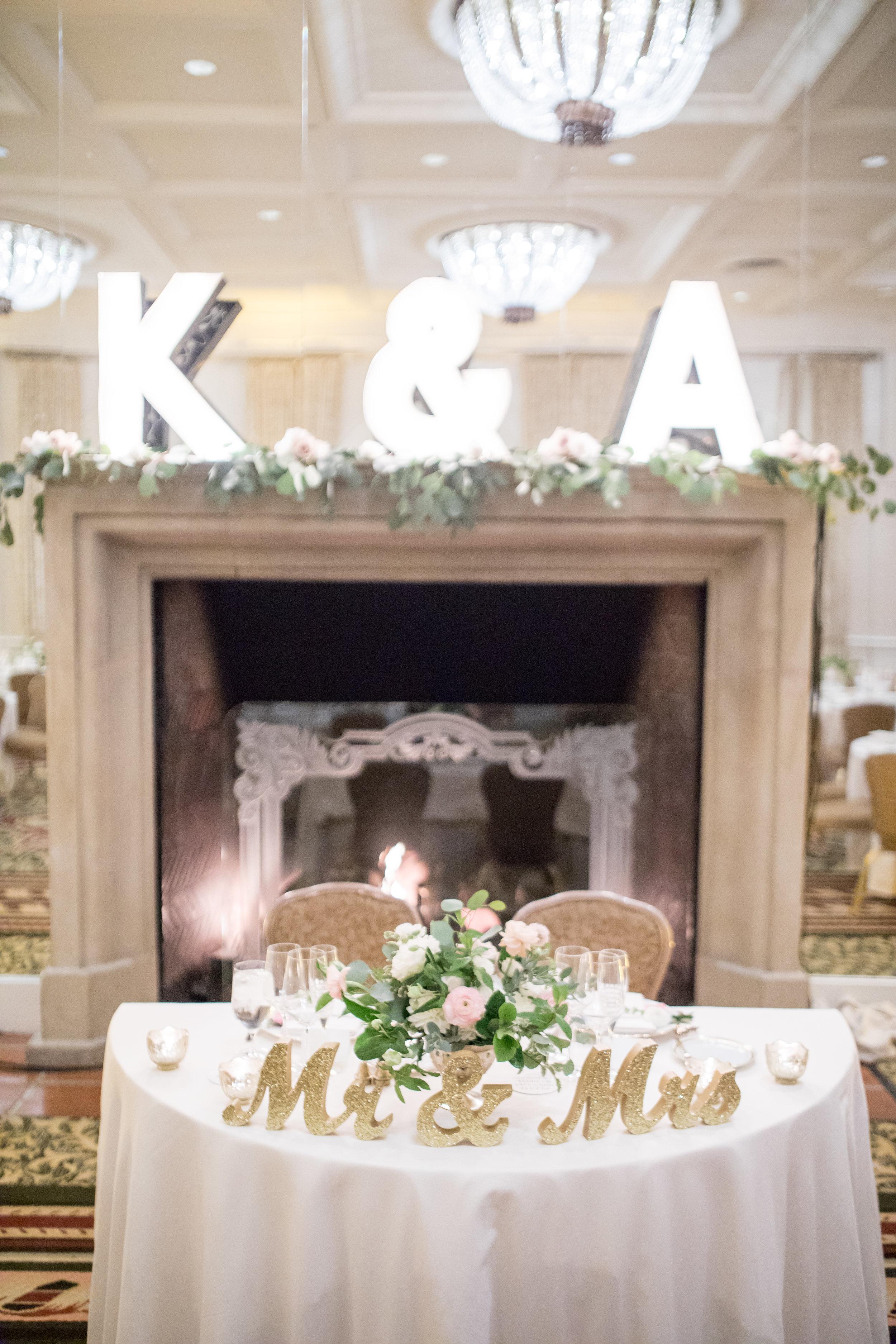www.santabarbarawedding.com | Waller Weddings | KB Events | Bride and Groom Table