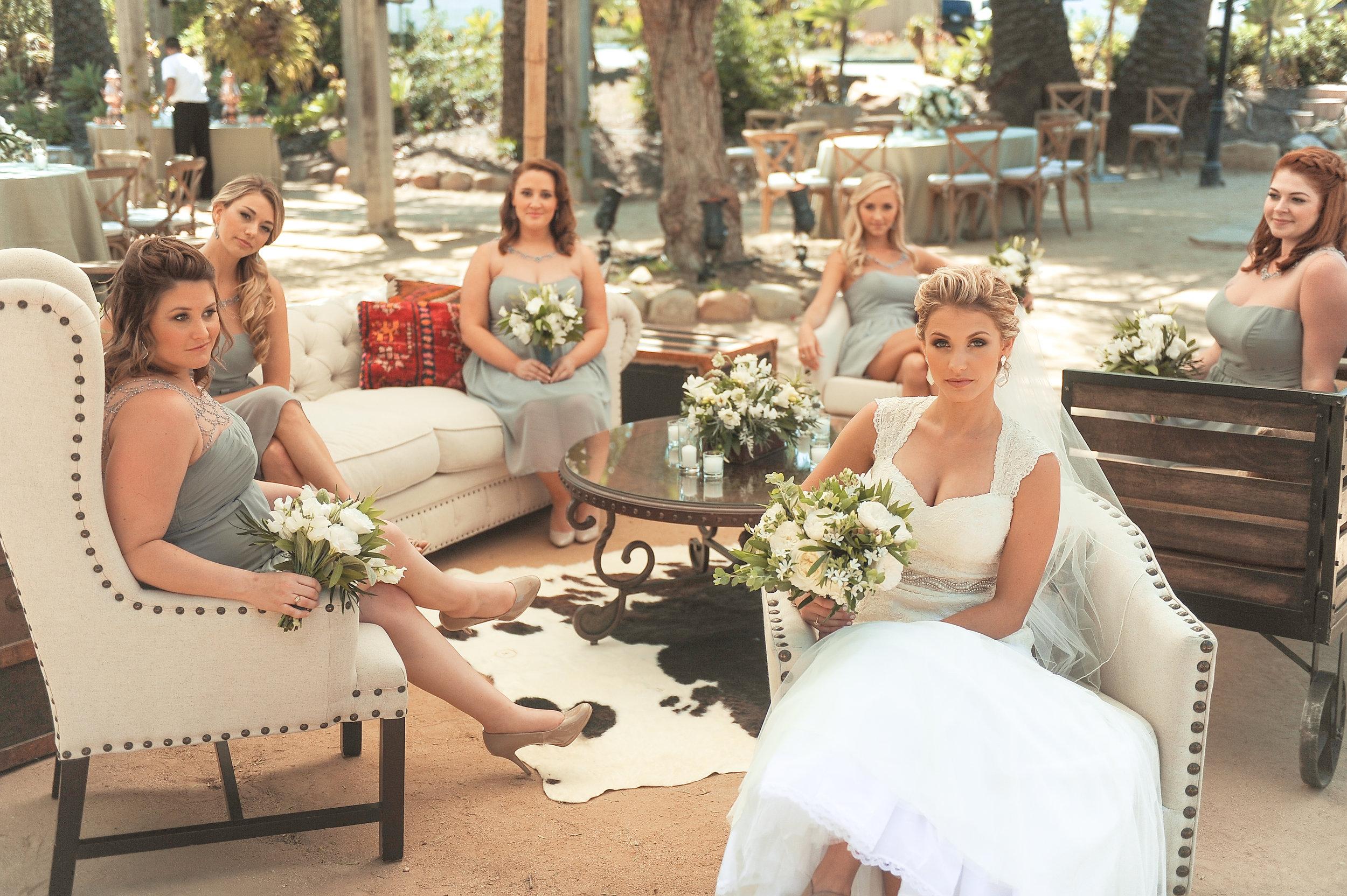 www.santabarbarawedding.com | JKoe Photography | Santa Barbara Historical Museum | Bridesmaids