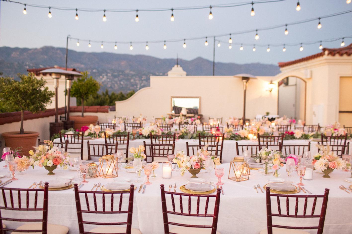 www.santabarbarawedding.com | Anna J Photography | Canary Hotel | Reception Table