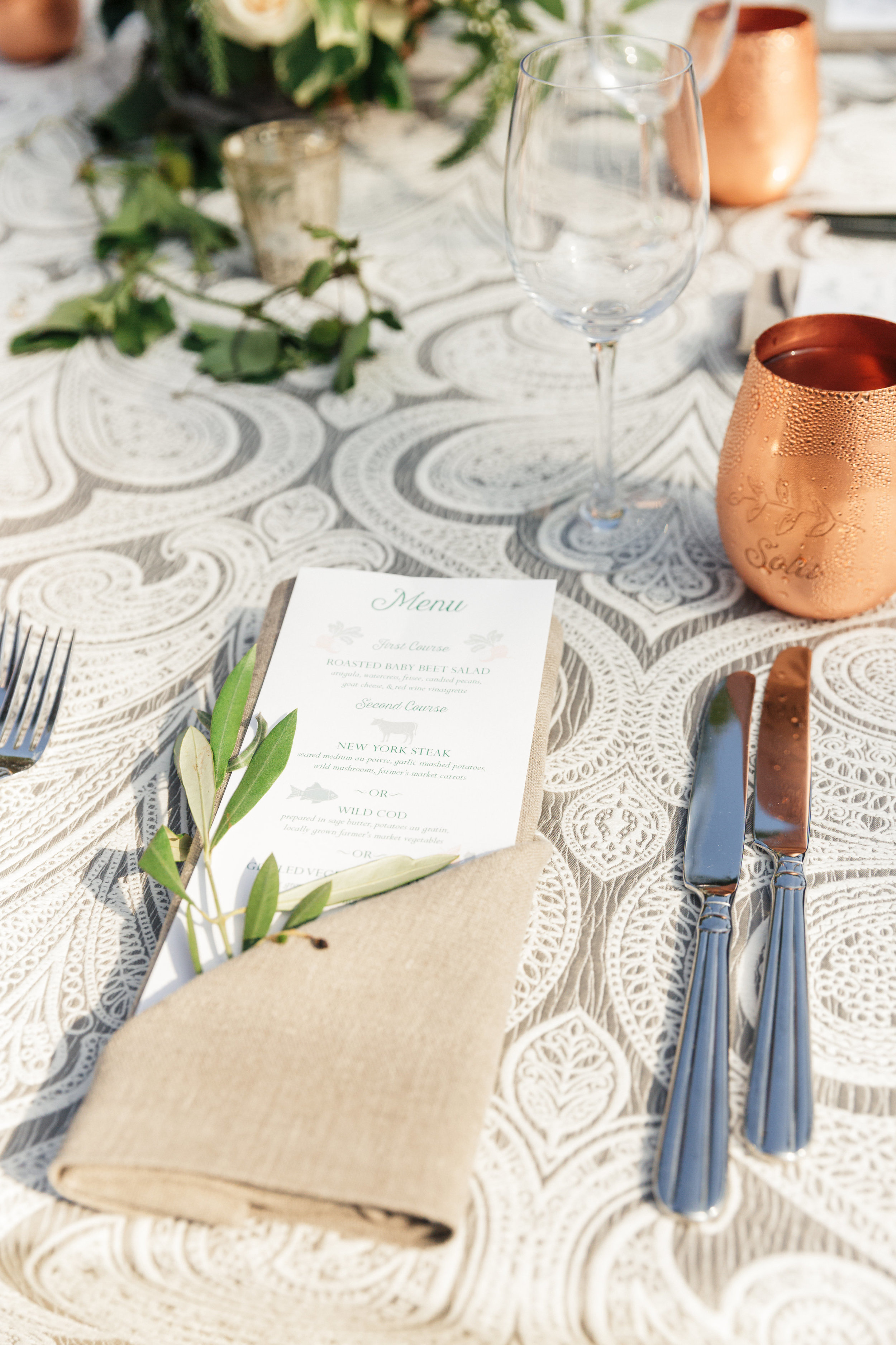 www.santabarbarawedding.com | Sanaz Photography | The Riviera Mansion | Place Setting
