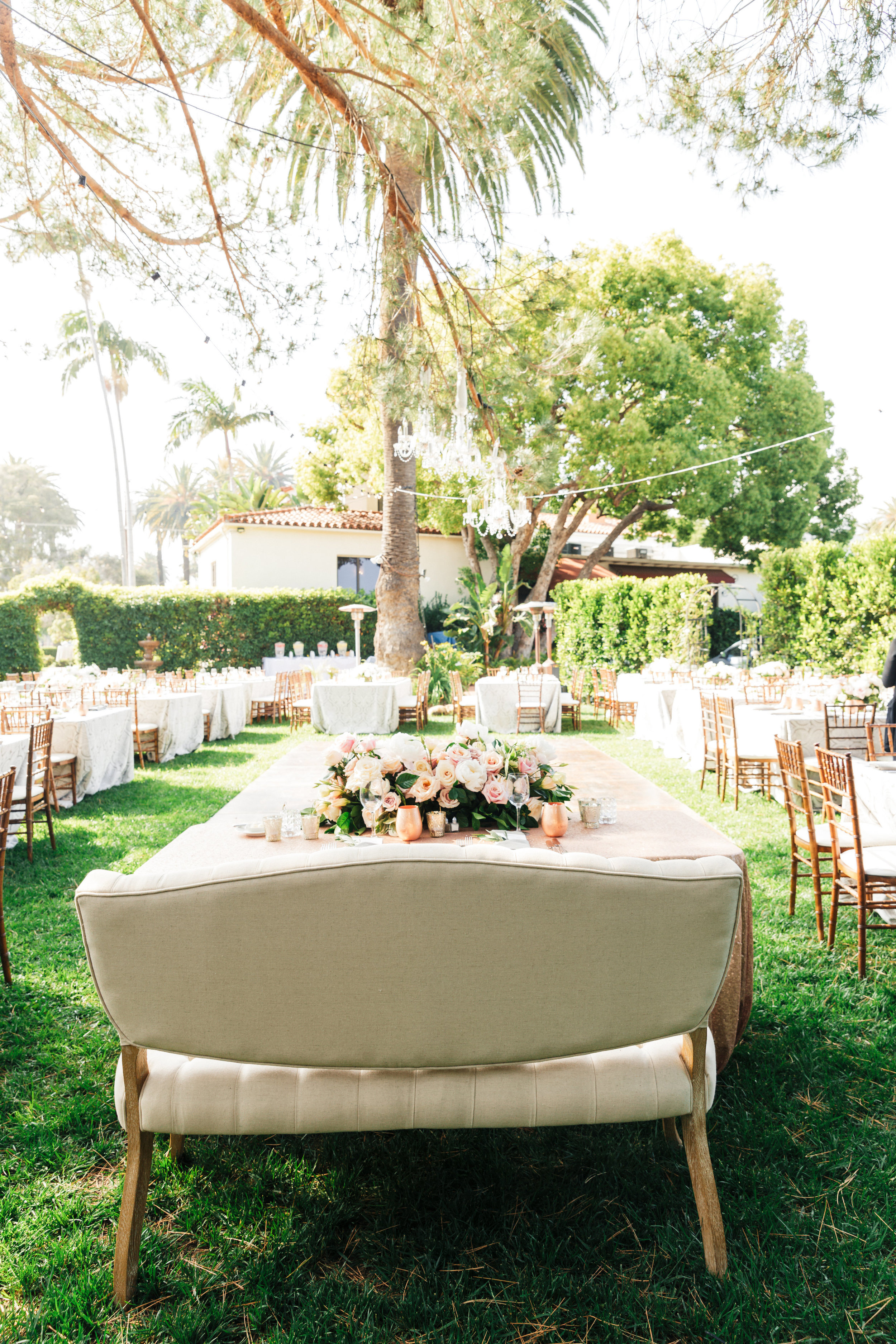 www.santabarbarawedding.com | Sanaz Photography | The Riviera Mansion | Reception Table