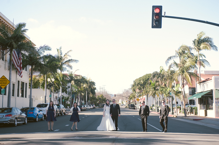 www.santabarbarawedding.com | By Cherry Photography | Santa Barbara Club | Bridal Party