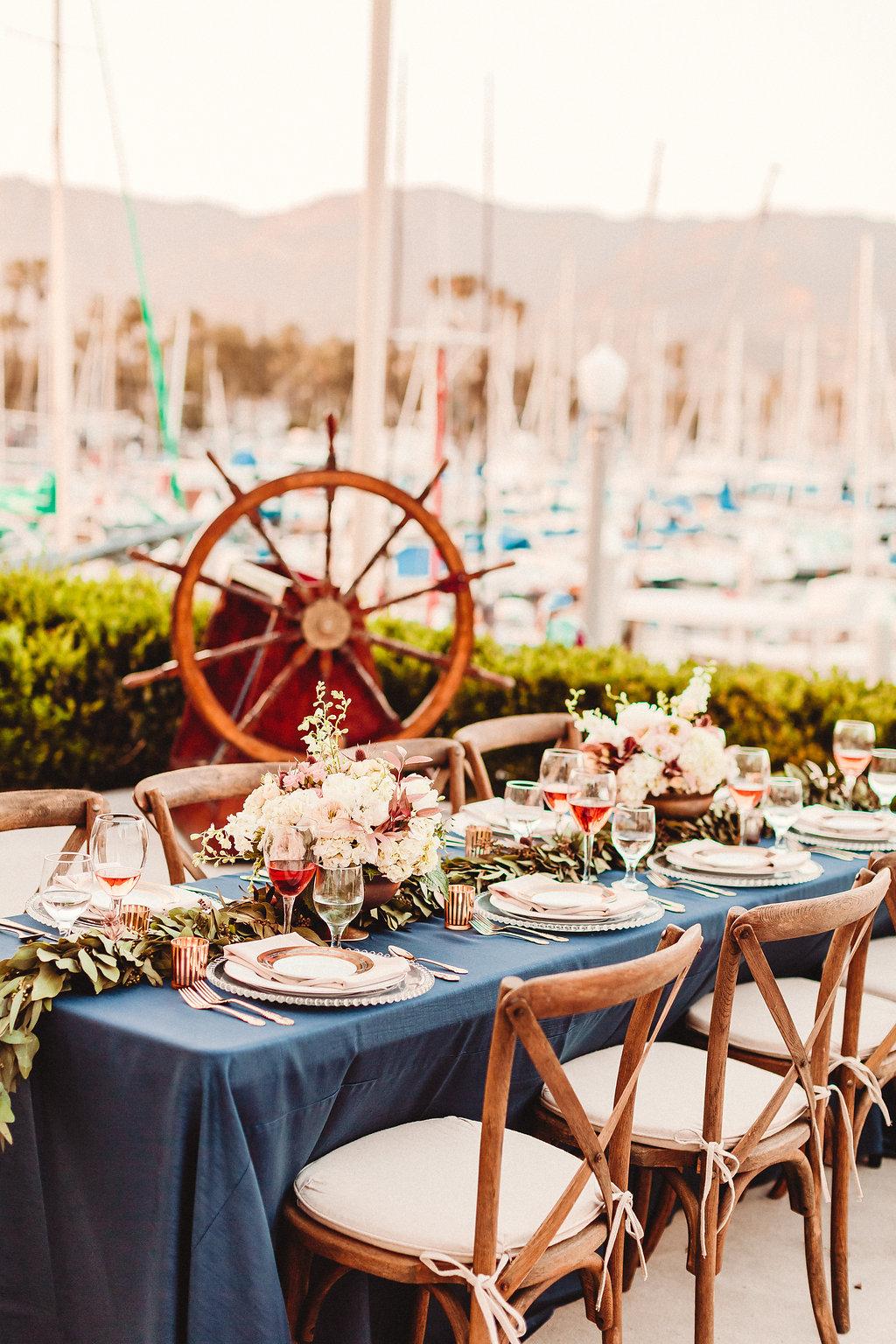 www.santabarbarawedding.com | Rewind Photography | Santa Barbara Maritime Museum | Table Setting