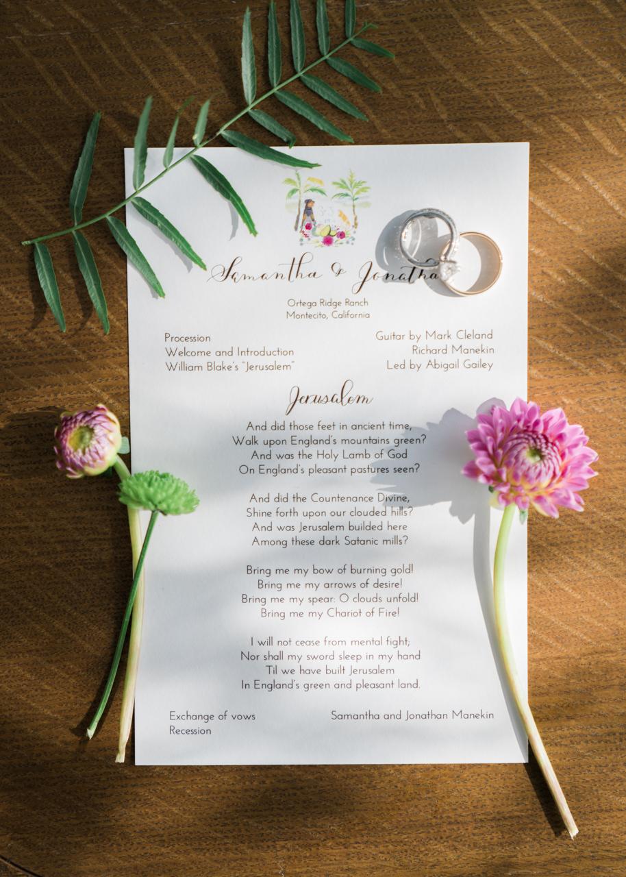 www.santabarbarawedding.com | Percy Sales Events | Brian Saculles Photography | Wedding Invitations