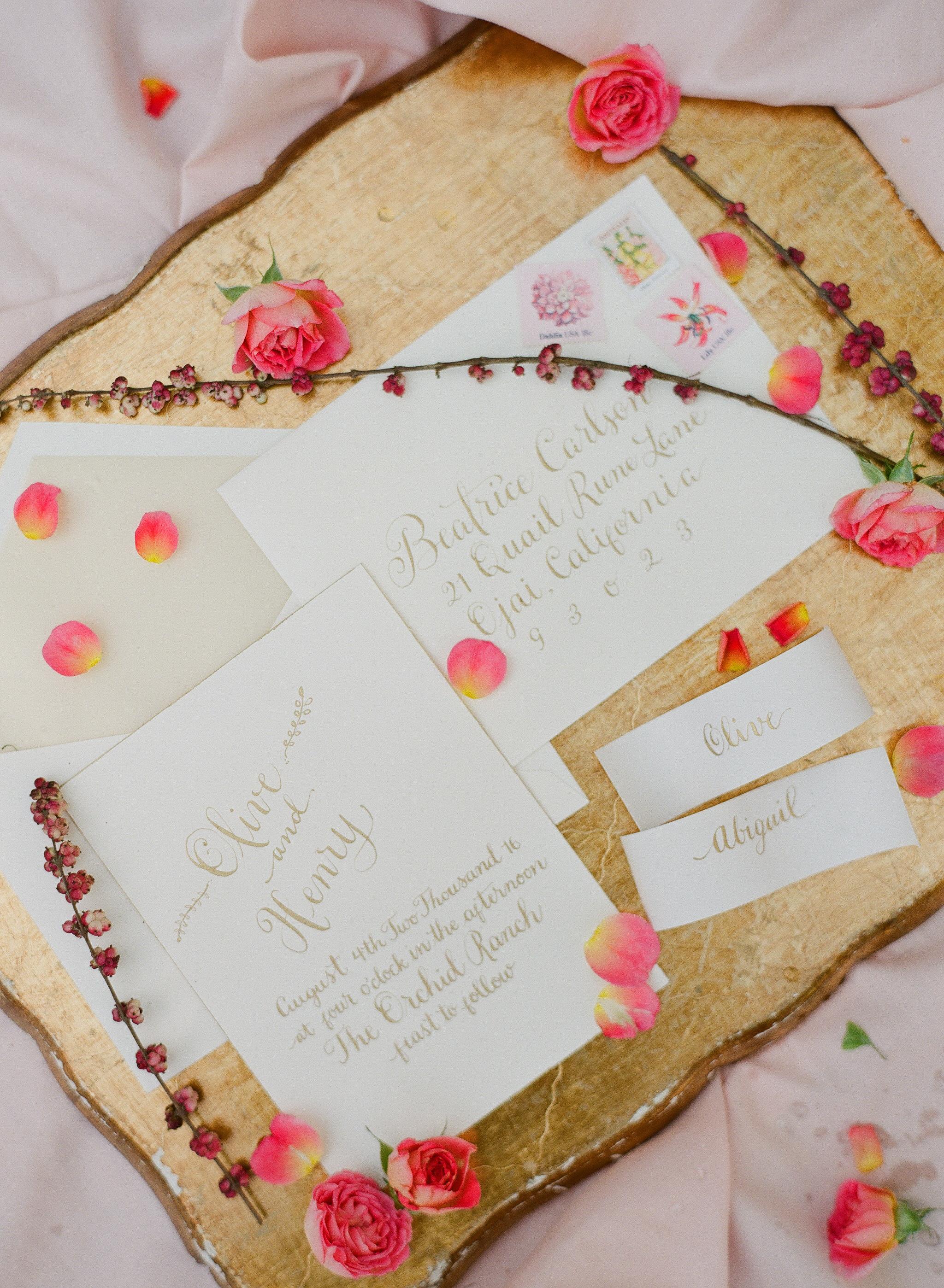 www.santabarbarawedding.com | Megan Sorel Photography | Dos Pueblos Orchid Farm | Wedding Invitations