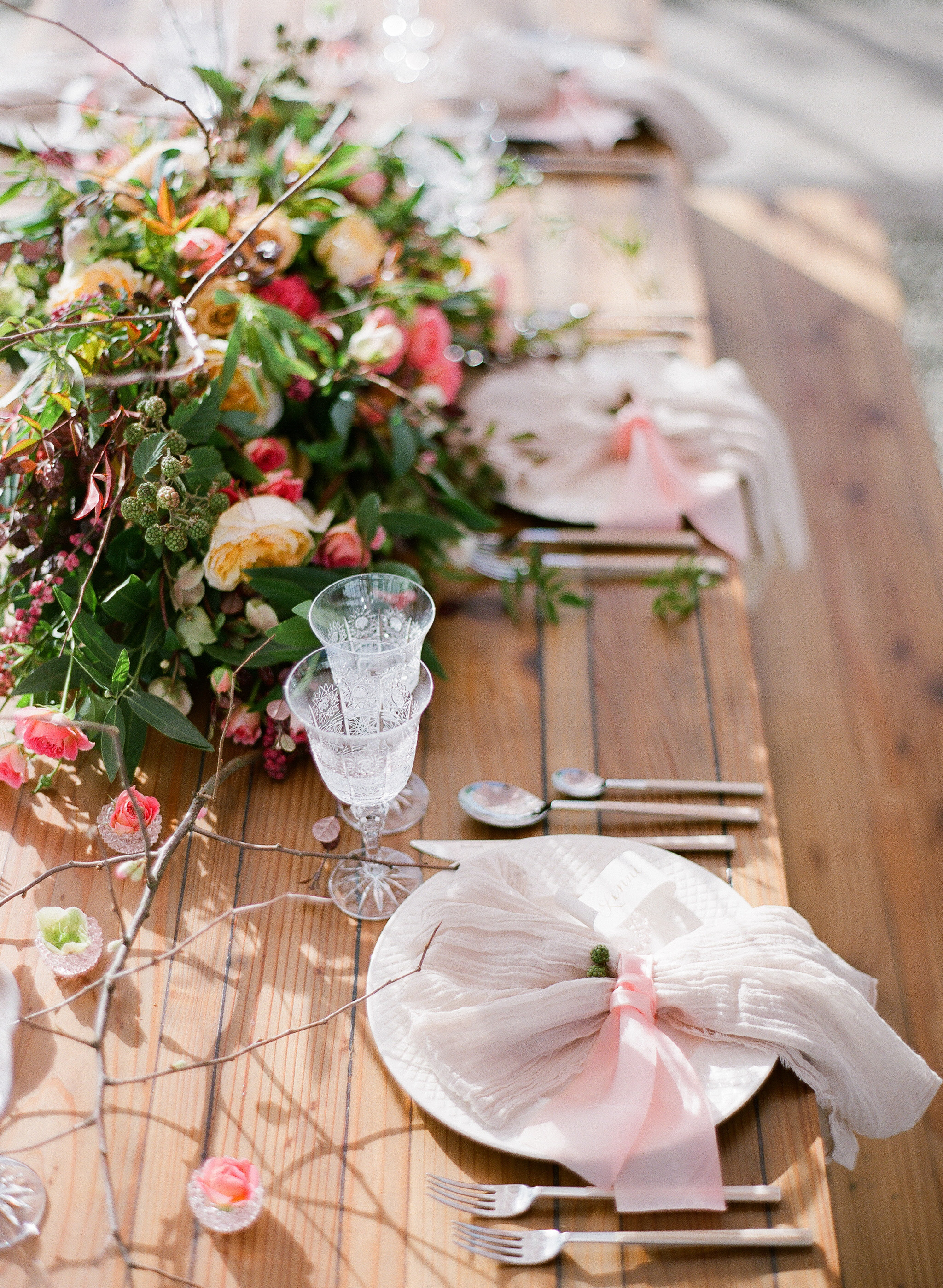 www.santabarbarawedding.com | Megan Sorel Photography | Dos Pueblos Orchid Farm | Table Setting
