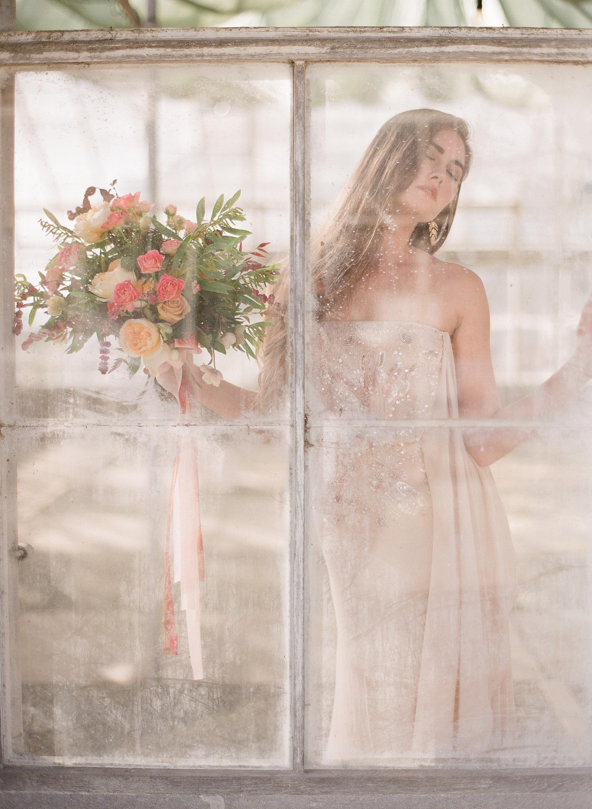 www.santabarbarawedding.com | Megan Sorel Photography | Dos Pueblos Orchid Farm | Bride