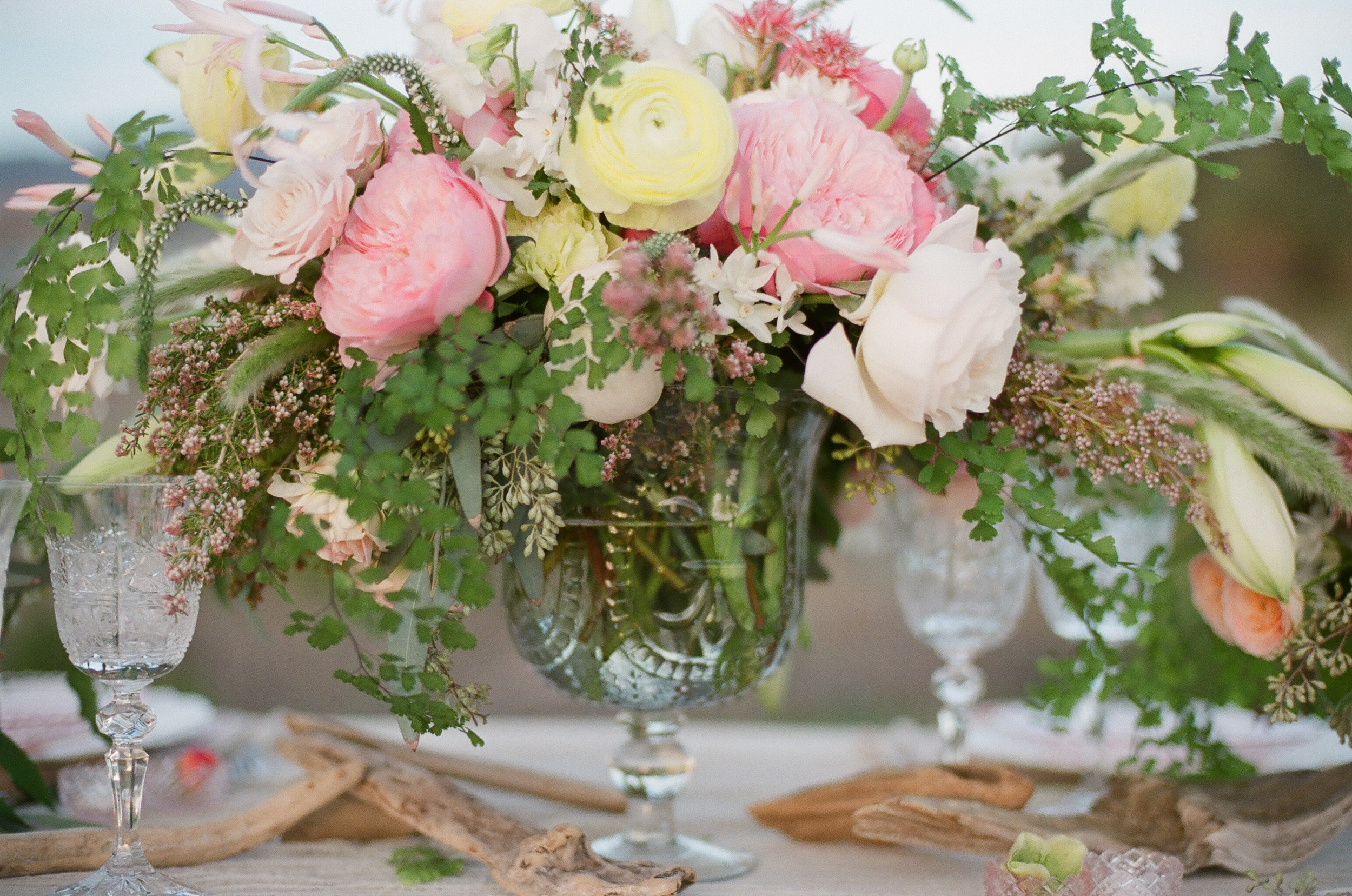 www.santabarbarawedding.com   Megan Sorel Photography   Floral Arrangement