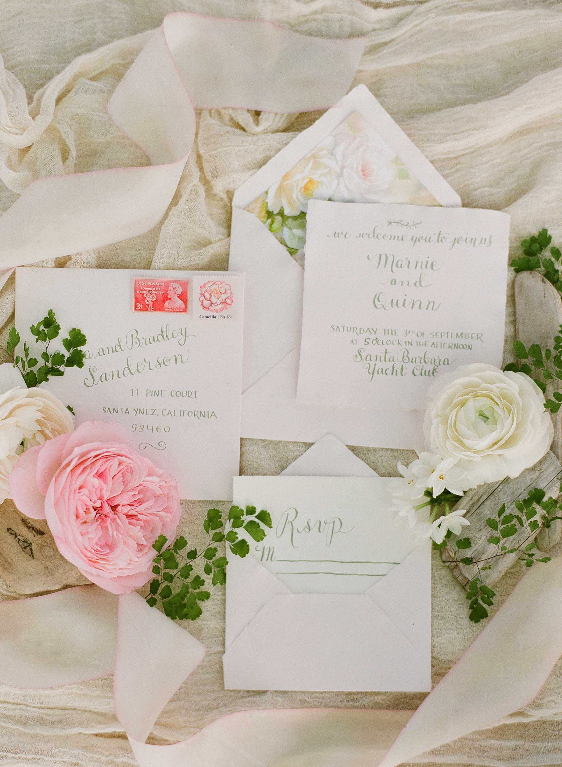 www.santabarbarawedding.com   Megan Sorel Photography   Wedding Invitations