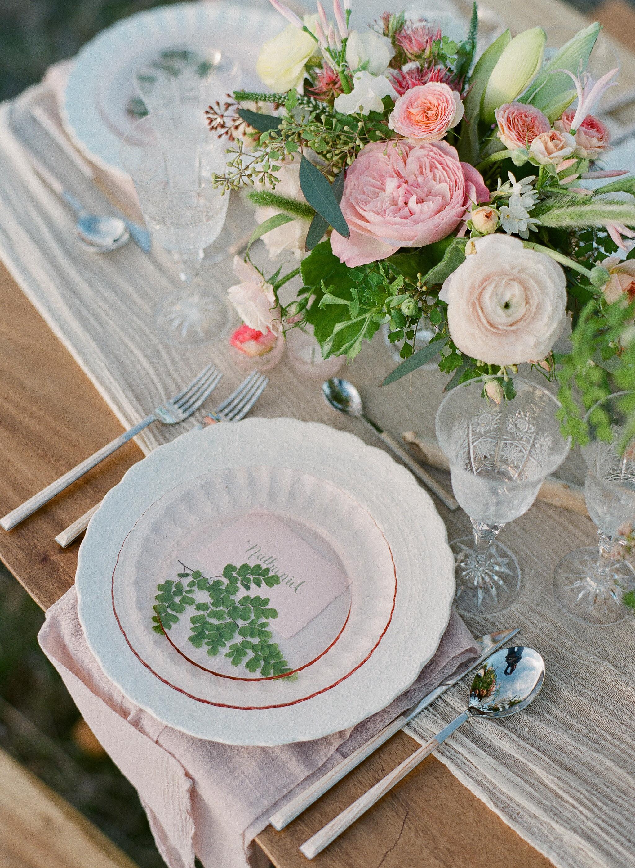www.santabarbarawedding.com   Megan Sorel Photography   Table Setting