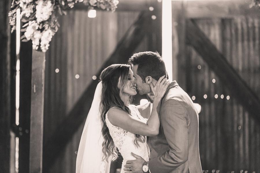www.santabarbarawedding.com | Kramer Events | Santa Margarita Ranch | Bride and Groom | First Kiss