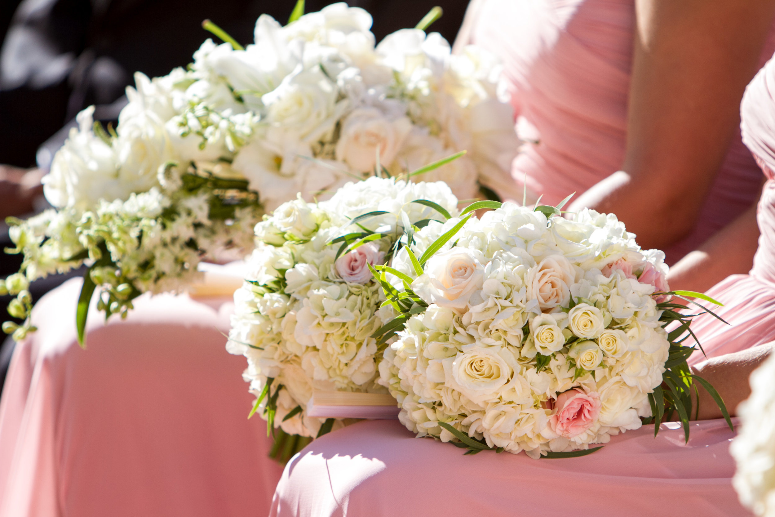 www.santabarbarawedding.com | Chris Schmitt Photography | Felici Events | Fess Parker Double Tree | Bridesmaid Bouquets