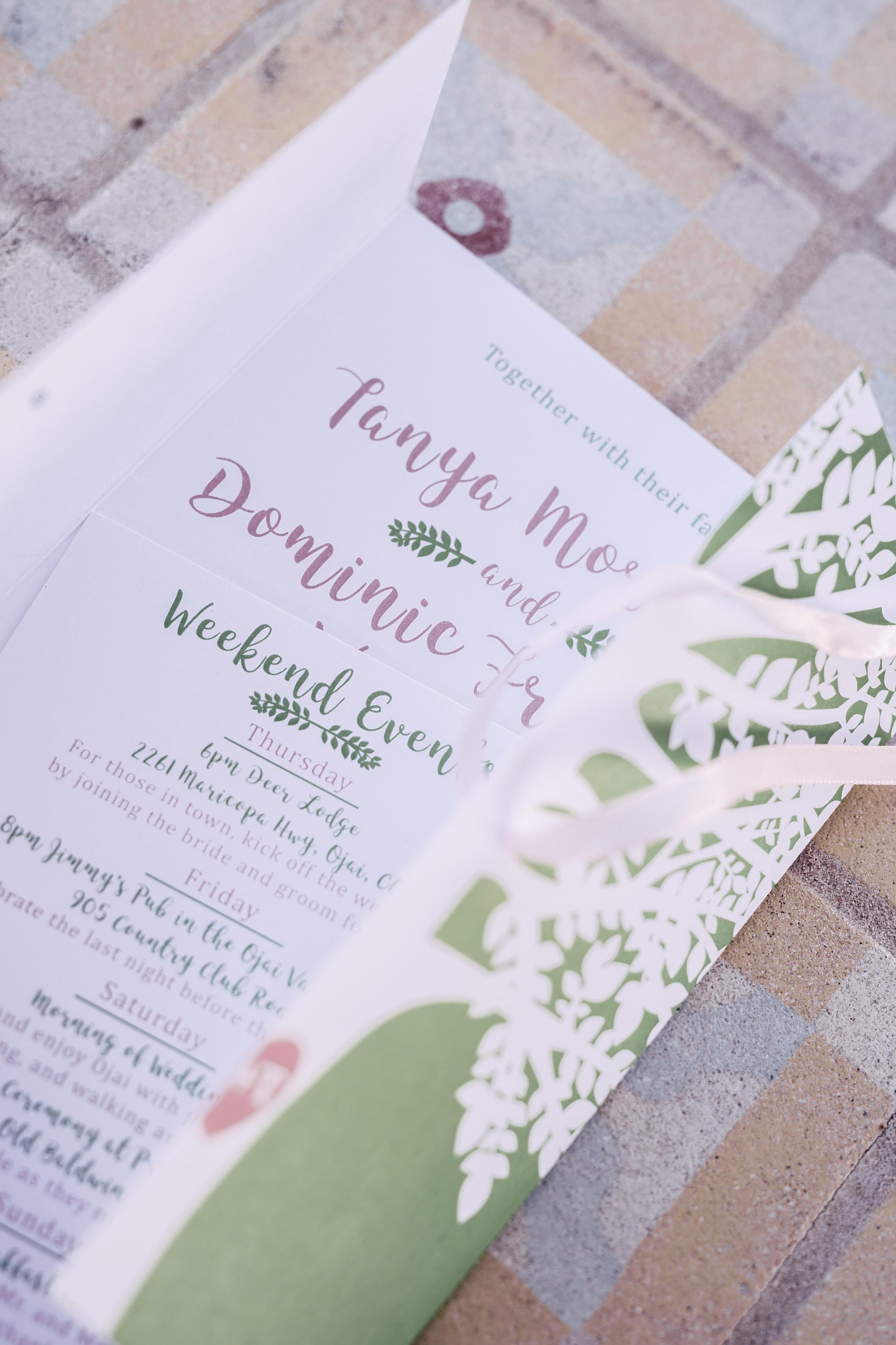 www.santabarbarawedding.com | Rewind Photography | Provence in Ojai | Wedding Invitations