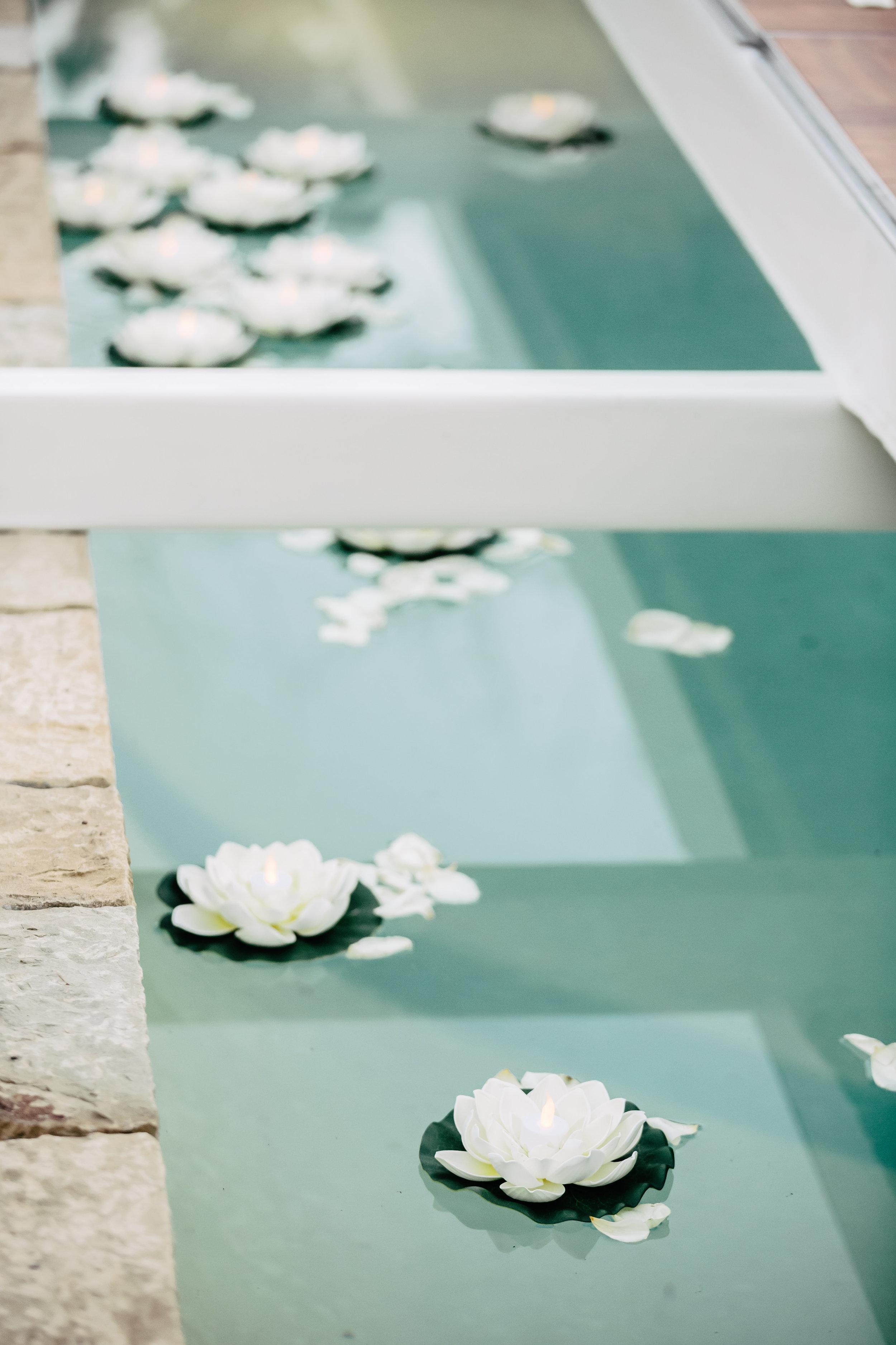 www.santabarbarawedding.com | Rewind Photography | Provence in Ojai | Pool Runway | Vigen's Party Rental | Ceremony