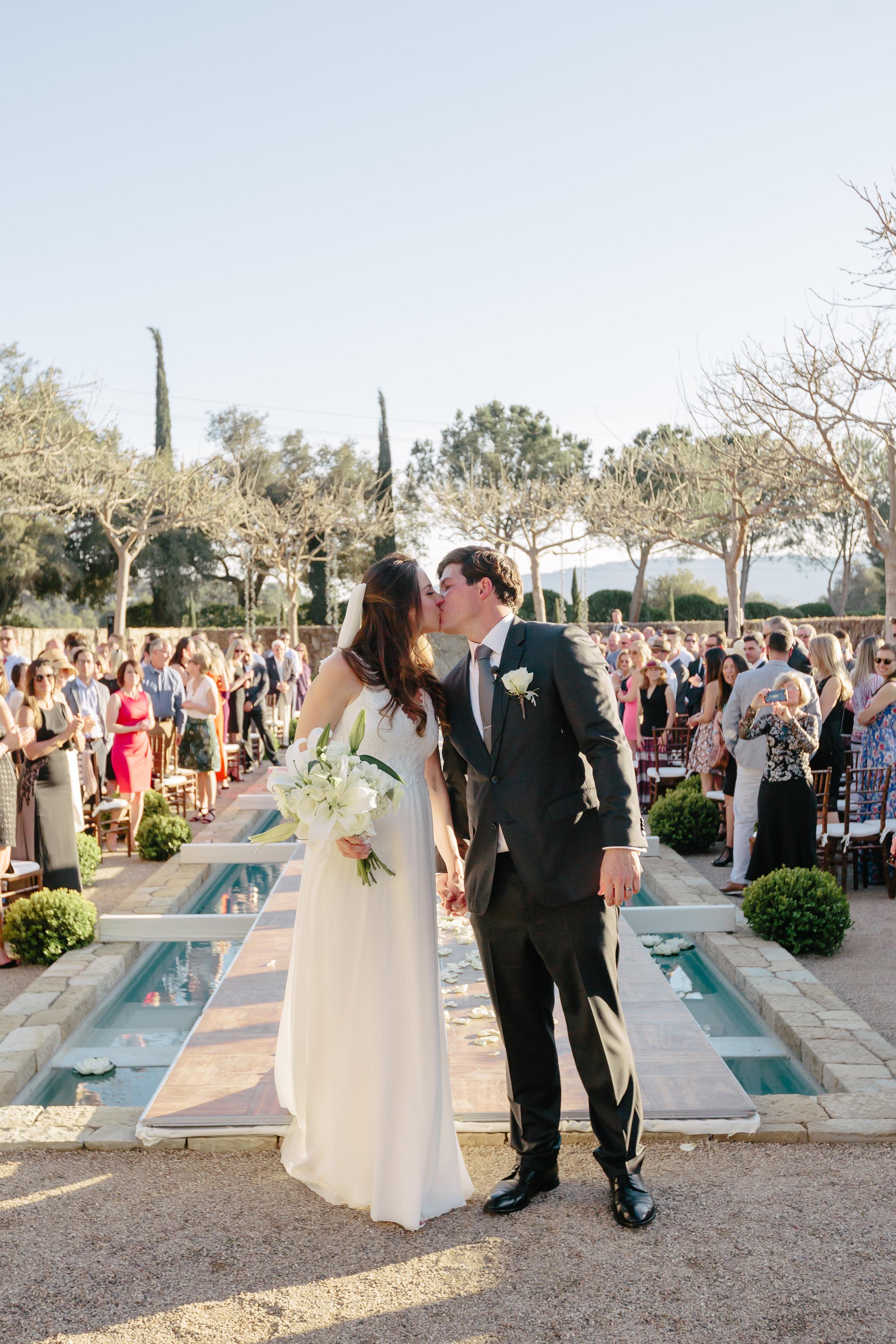 www.santabarbarawedding.com | Rewind Photography | Provence in Ojai | Ceremony | Pool Runway