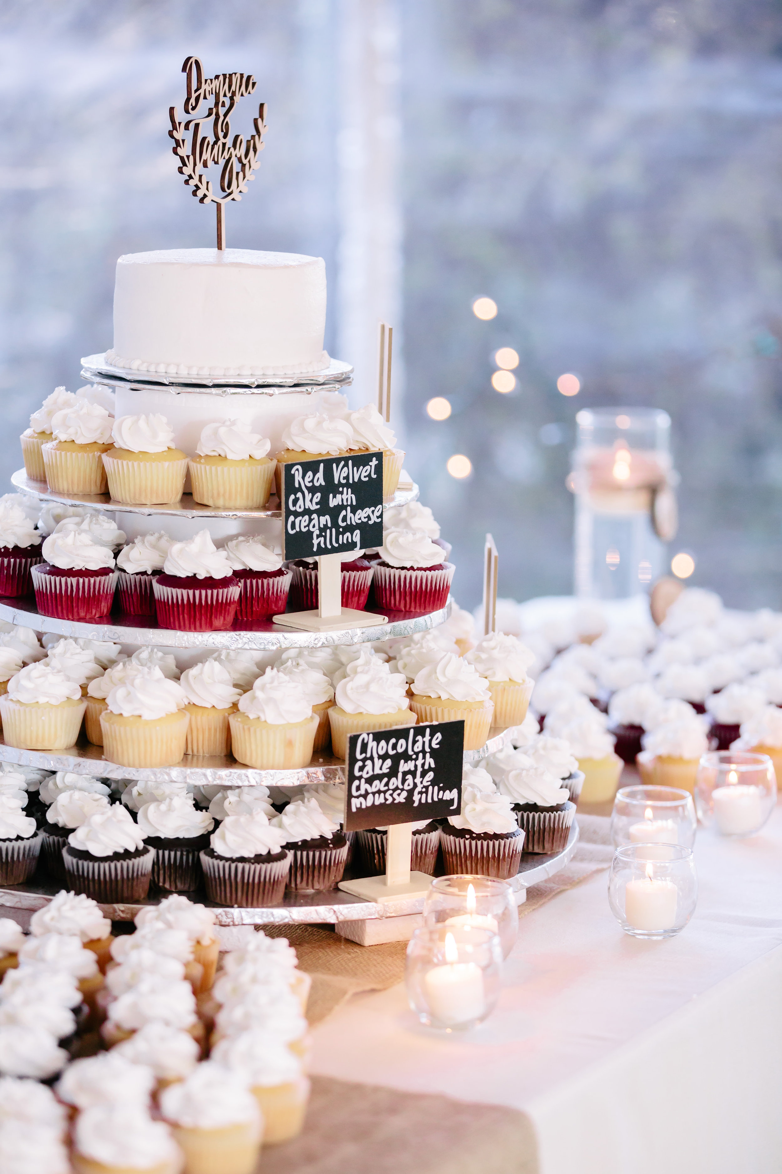 www.santabarbarawedding.com | Rewind Photography | Provence in Ojai | Cupcake Tower | Chooket by Your Cake Baker | Cupcakes