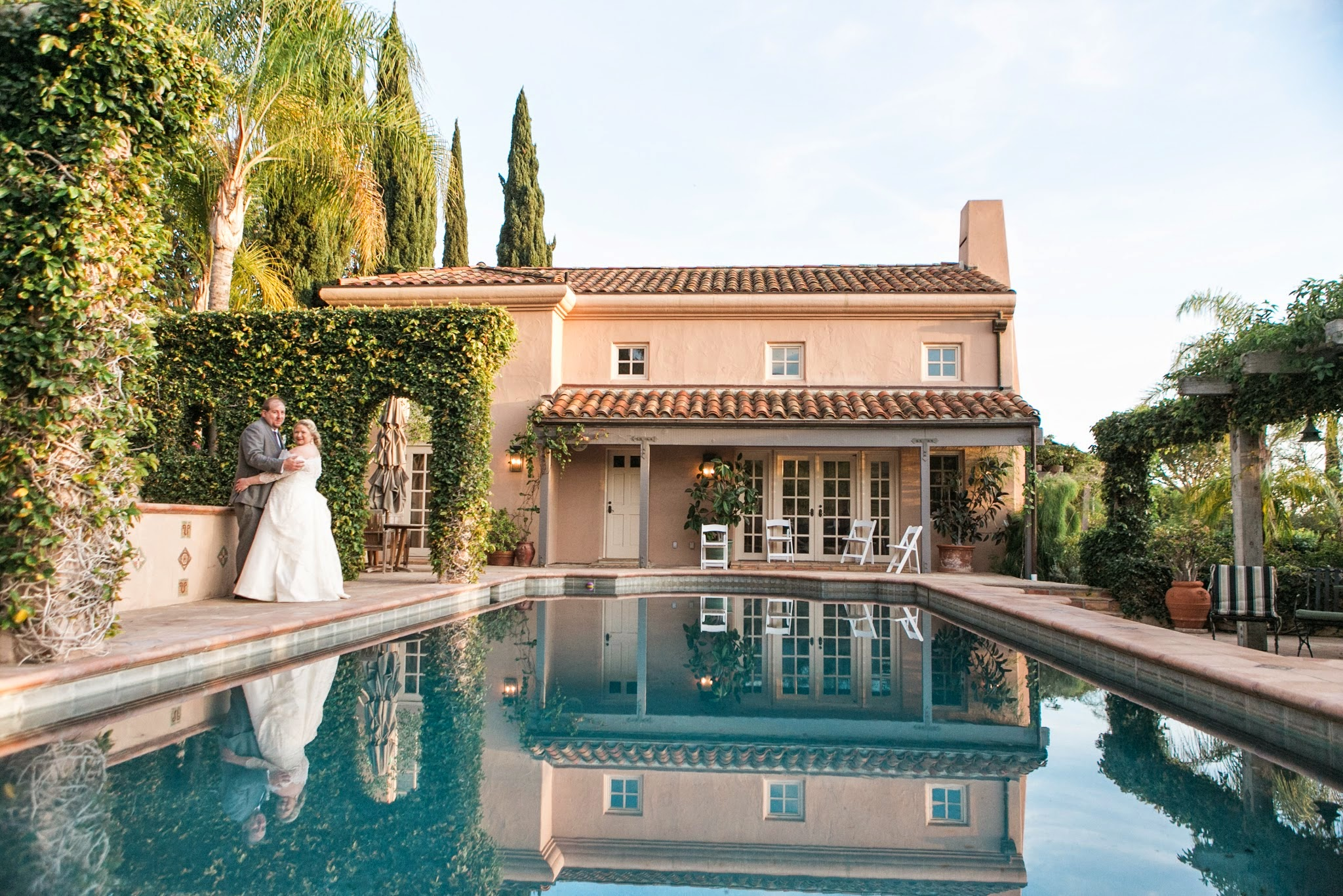 www.santabarbarawedding.com | Andrejka Photography | Villa Verano | Wedding Venue | Private Estate | Bride and Groom | Pool