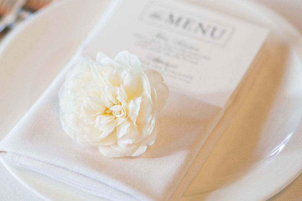 www.santabarbarawedding.com | Melissa Musgrove Photography | Four Seasons Resort The Biltmore | Reception | Menu | Place Setting