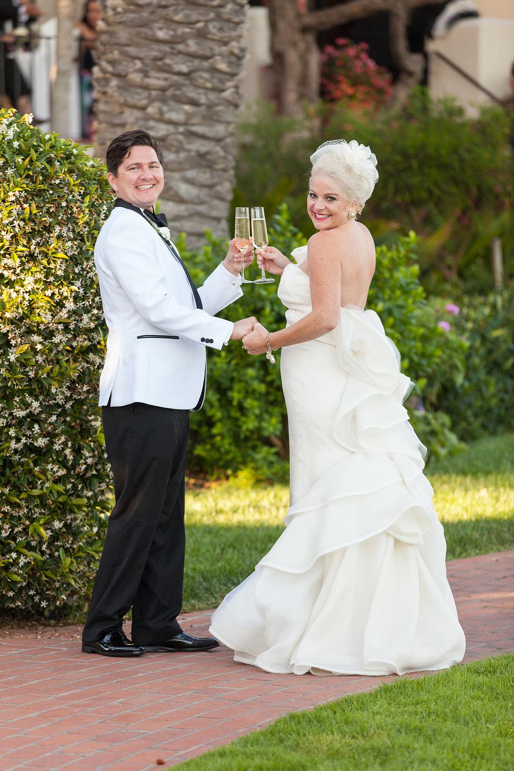 www.santabarbarawedding.com | Melissa Musgrove Photography | Four Seasons Resort The Biltmore | Bride and Groom | Toast