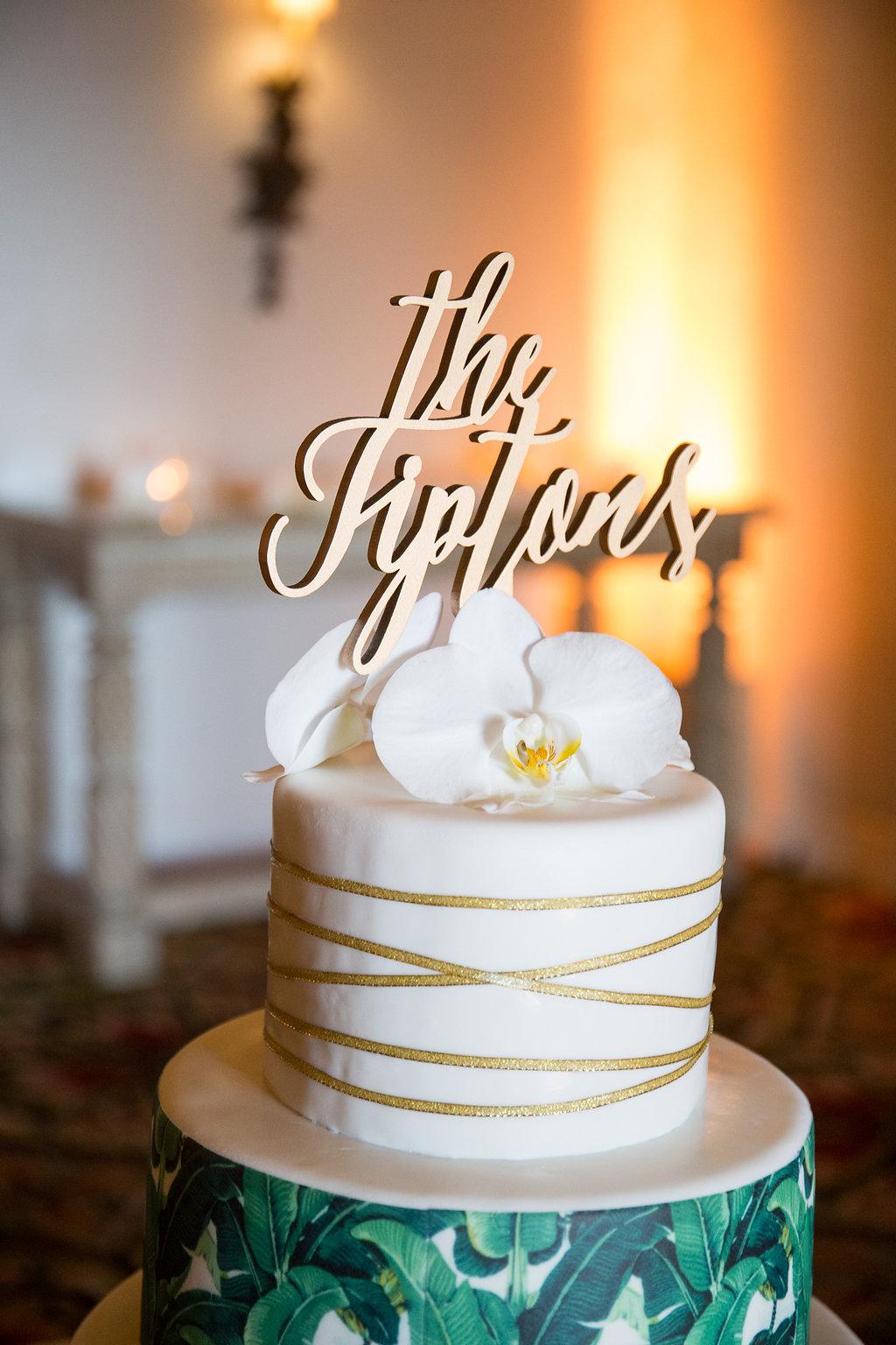 www.santabarbarawedding.com | Melissa Musgrove Photography | Four Seasons Resort The Biltmore | Wedding Cake | Wedding Cake Topper