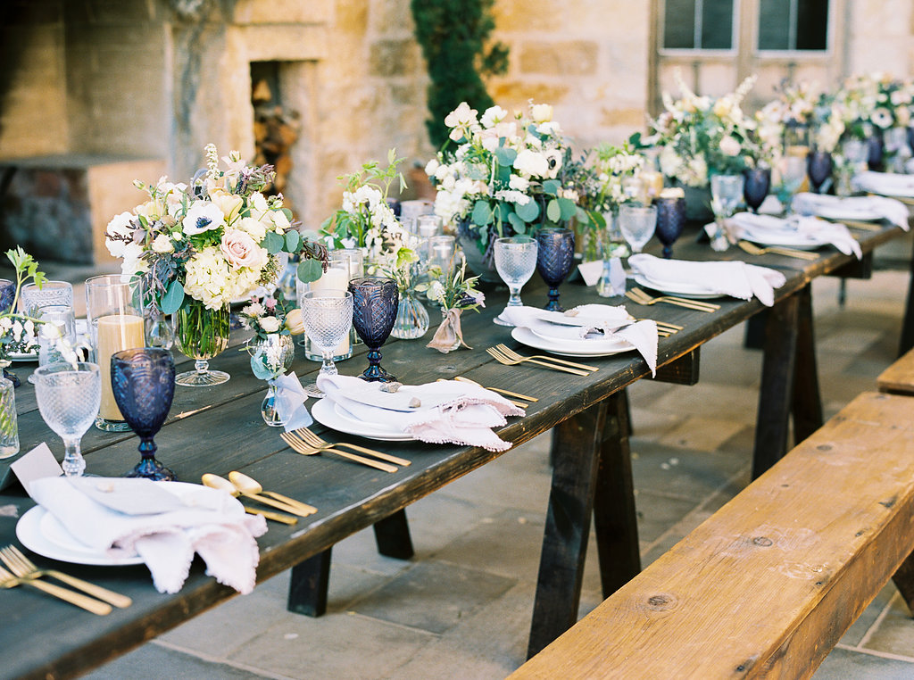 www.santabarbarawedding.com | Sunstone Winery | Jen Rodriguez | Dinner Party | Table Details