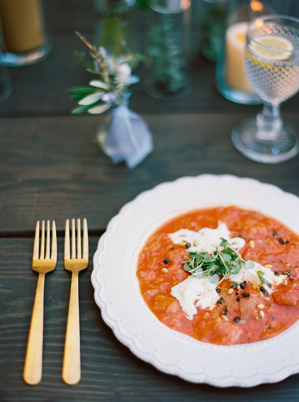 www.santabarbarawedding.com | Sunstone Winery | Jen Rodriguez | Dinner Party | Soup