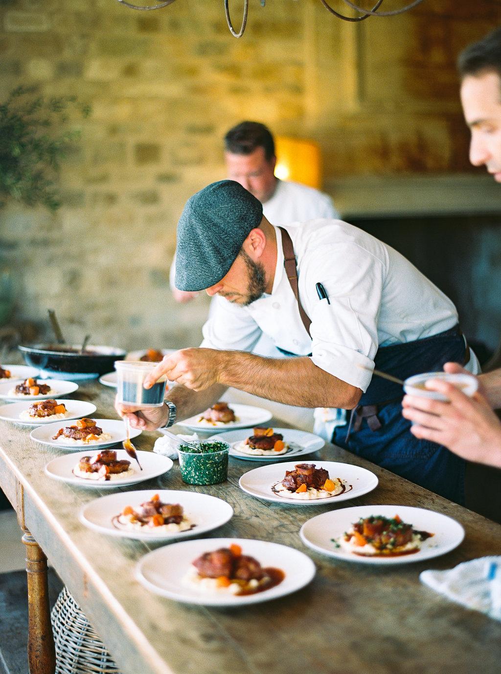 www.santabarbarawedding.com | Sunstone Winery | Jen Rodriguez | Dinner Party | Food Preparation