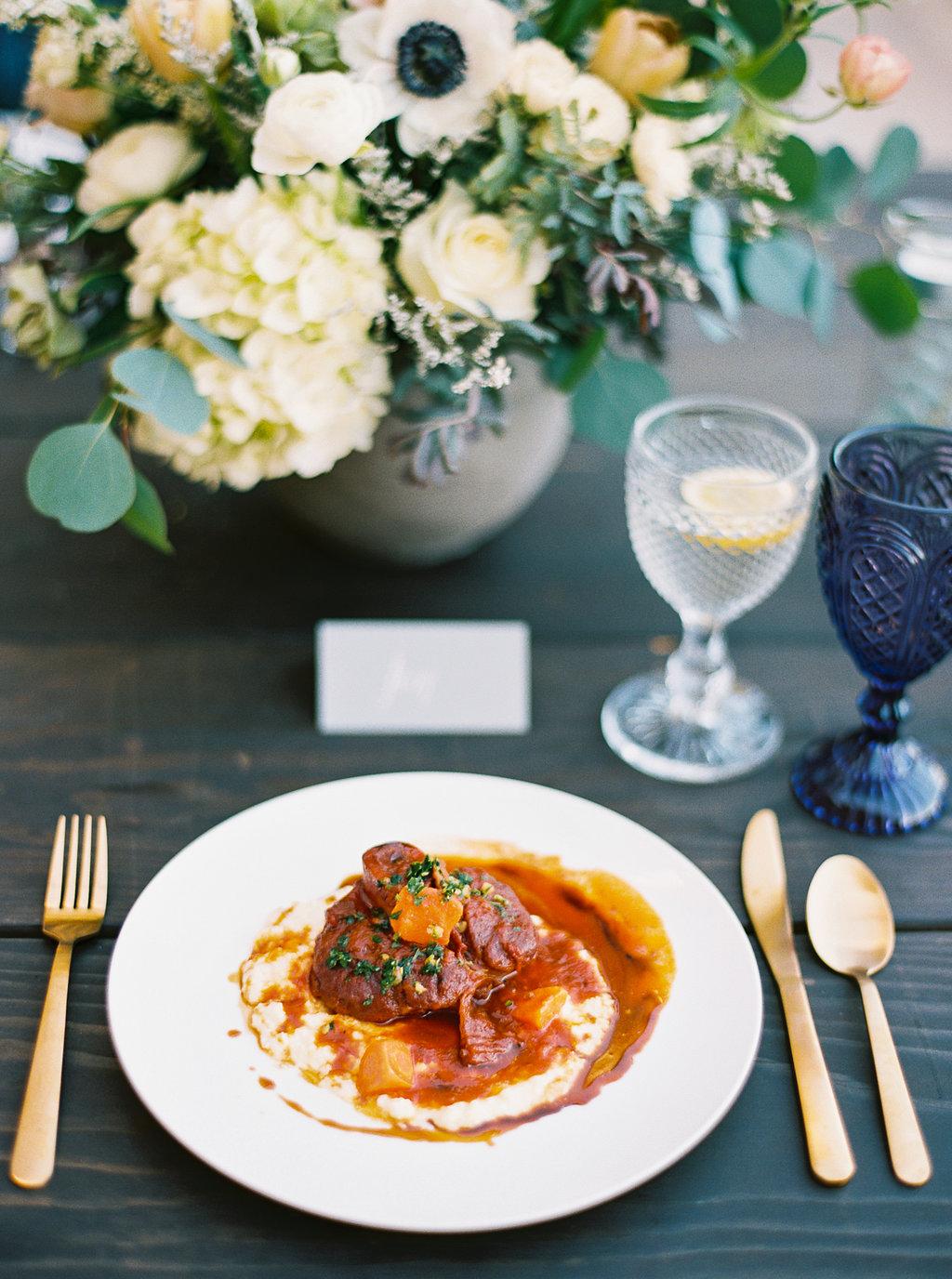 www.santabarbarawedding.com | Sunstone Winery | Jen Rodriguez | Dinner Party | Main Course