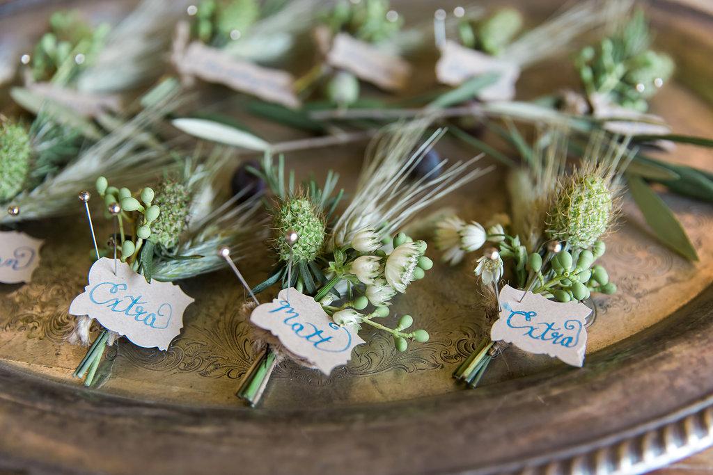 www.santabarbarawedding.com | Jessica Angell Photography | Apple Creek Ranch | Boutonnieres