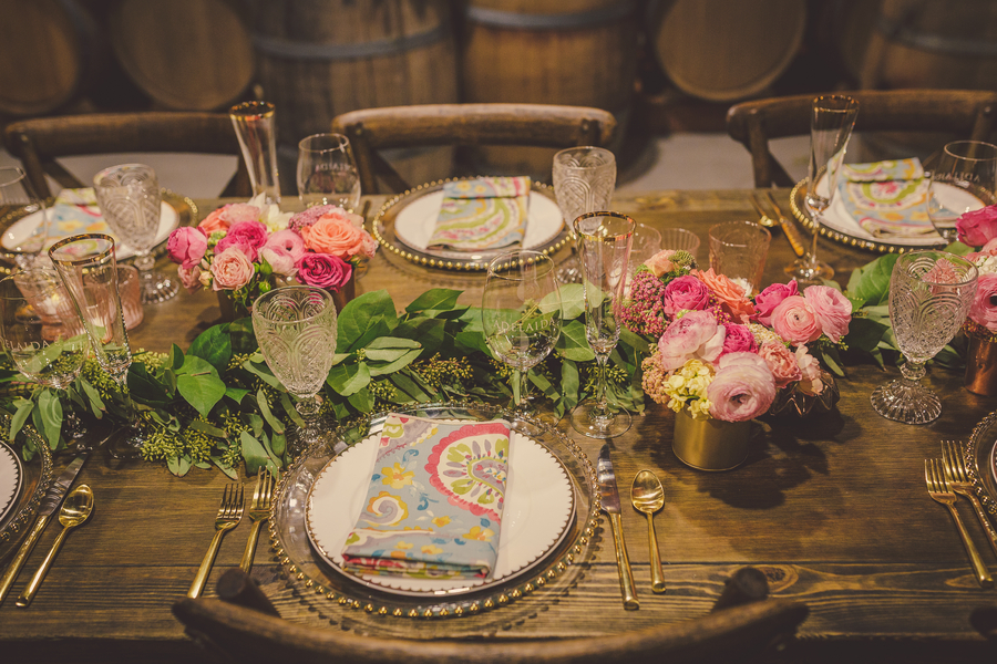 www.santabarbarawedding.com | Kramer Events | Adelaida Cellars | Place Settings