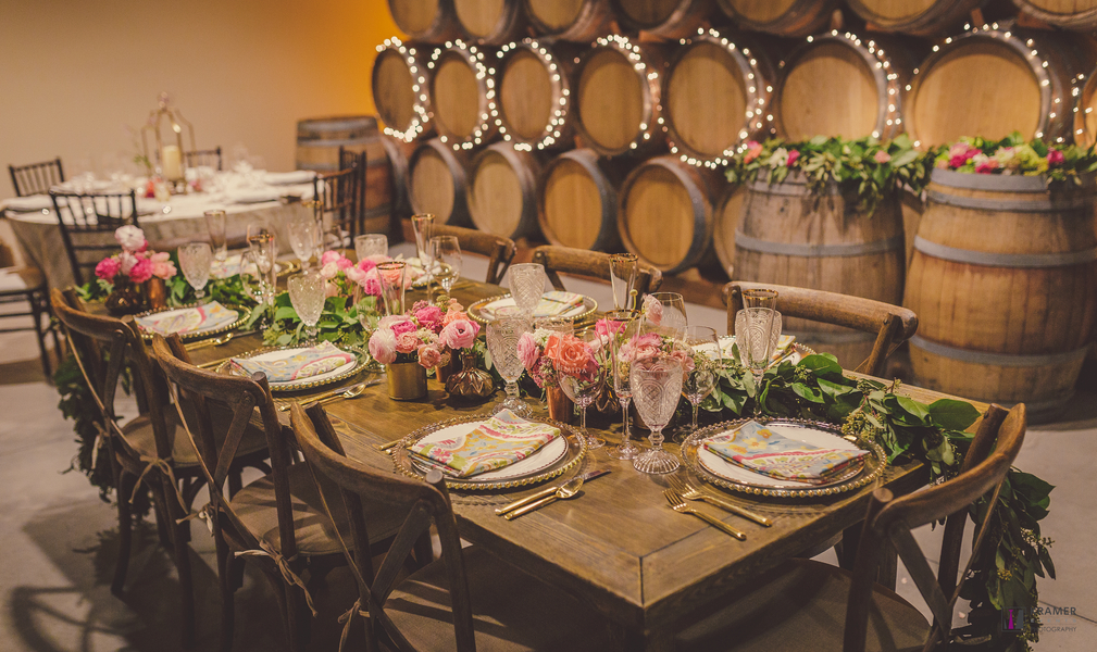 www.santabarbarawedding.com | Kramer Events | Adelaida Cellars | Reception Table