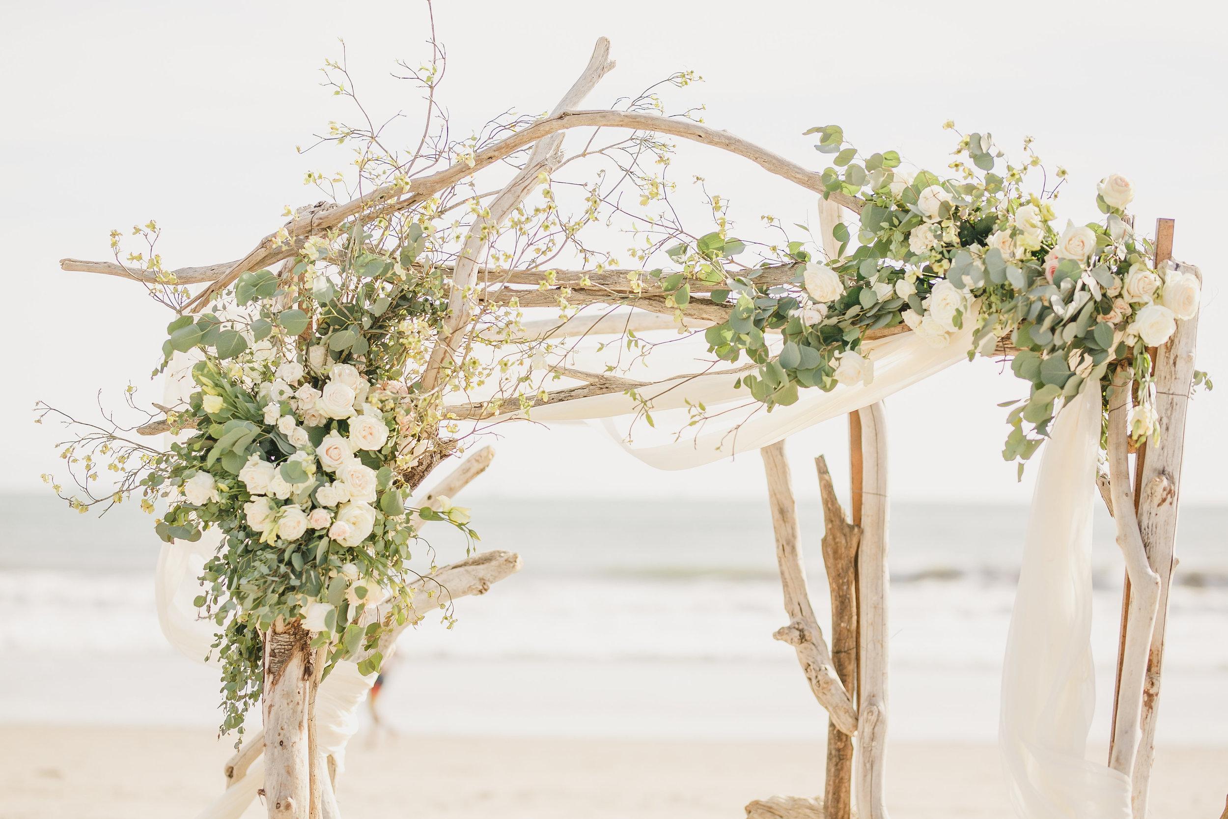 www.santabarbarawedding.com | Kristen Booth Photography | Rincon Beach Club | Ceremony | Wedding Arch