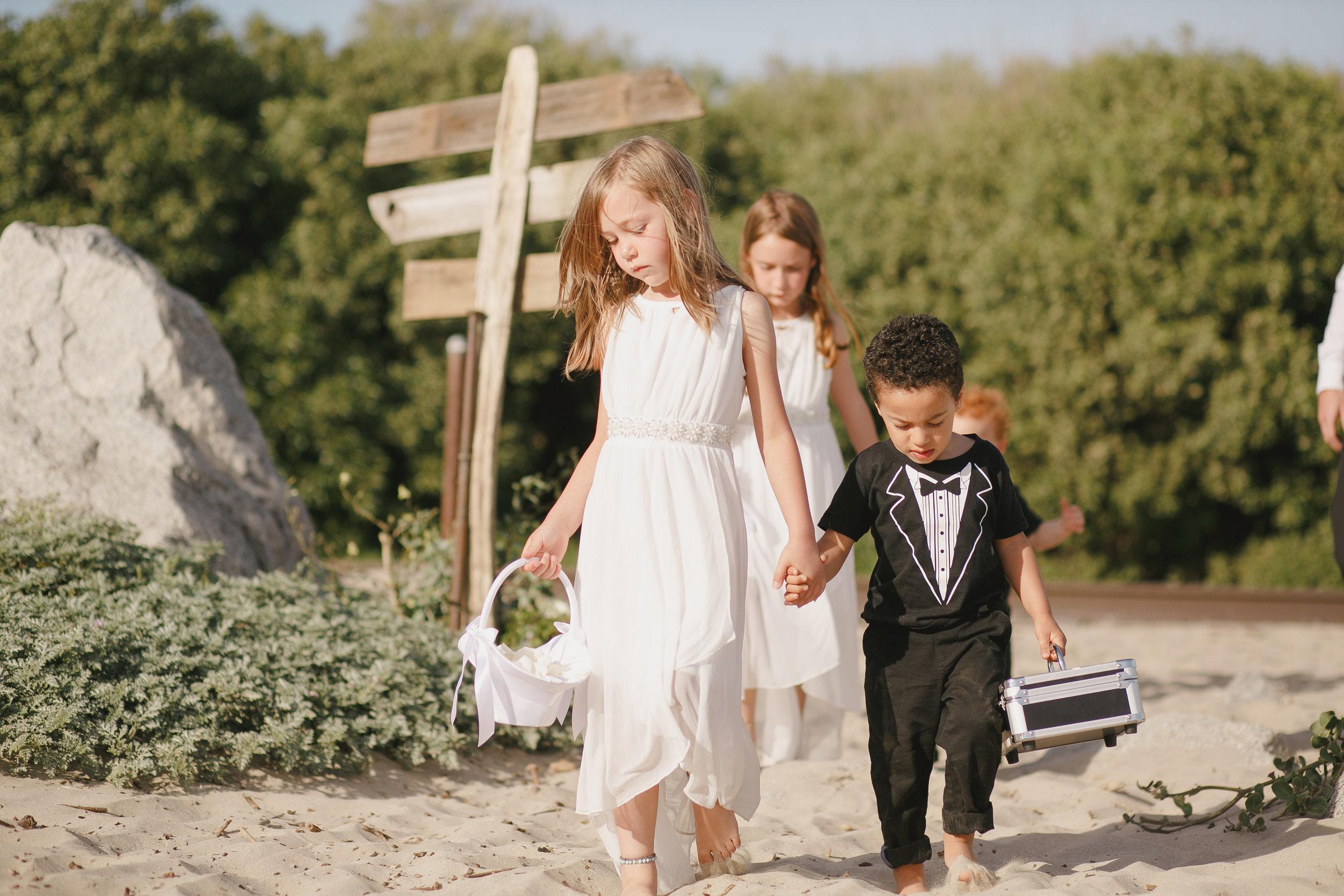 www.santabarbarawedding.com | Kristen Booth Photography | Rincon Beach Club | Flower Girl | Ring Bearer