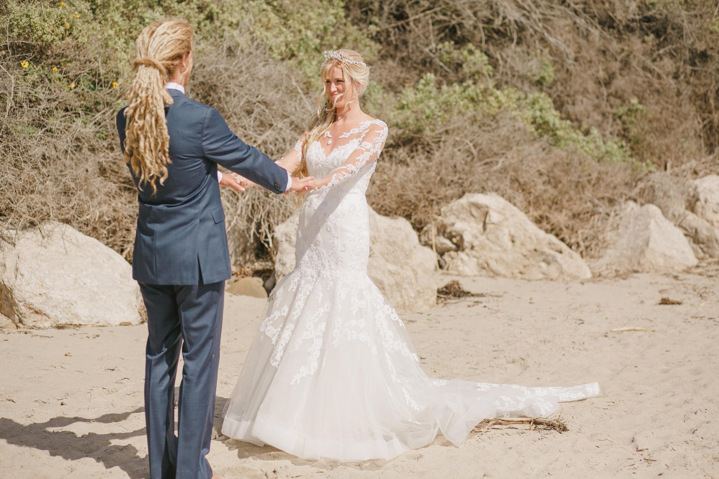 www.santabarbarawedding.com | Kristen Booth Photography | Rincon Beach Club | Bride and Groom | First Look