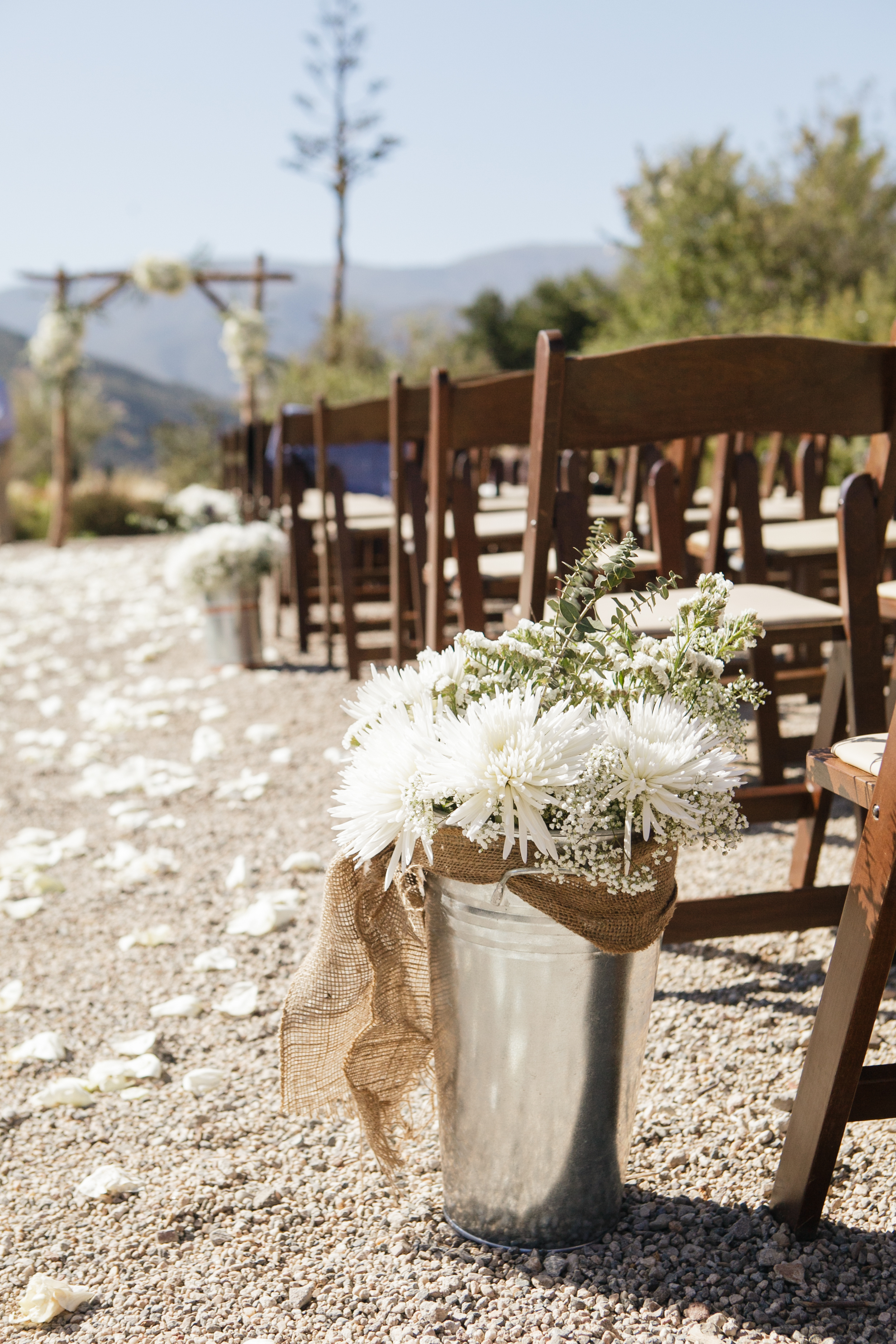 www.santabarbarawedding.com | Andrejka Photography | Red Tail Ranch | Ceremony Details | Flowers