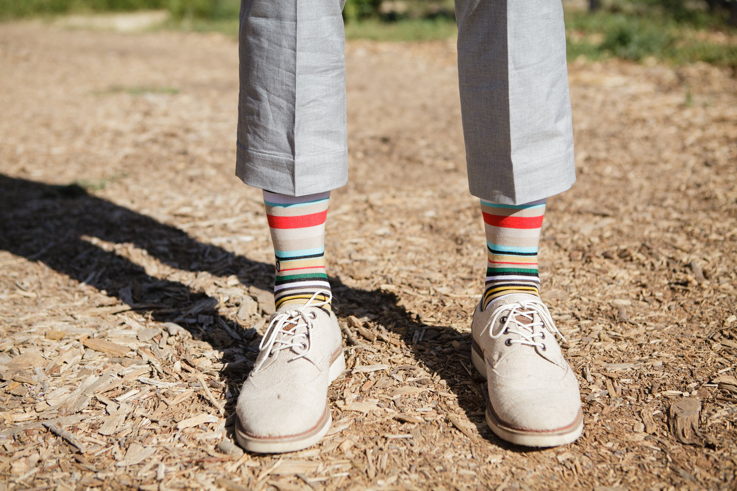www.santabarbarawedding.com | Andrejka Photography | Red Tail Ranch | Groom's Socks and Shoes