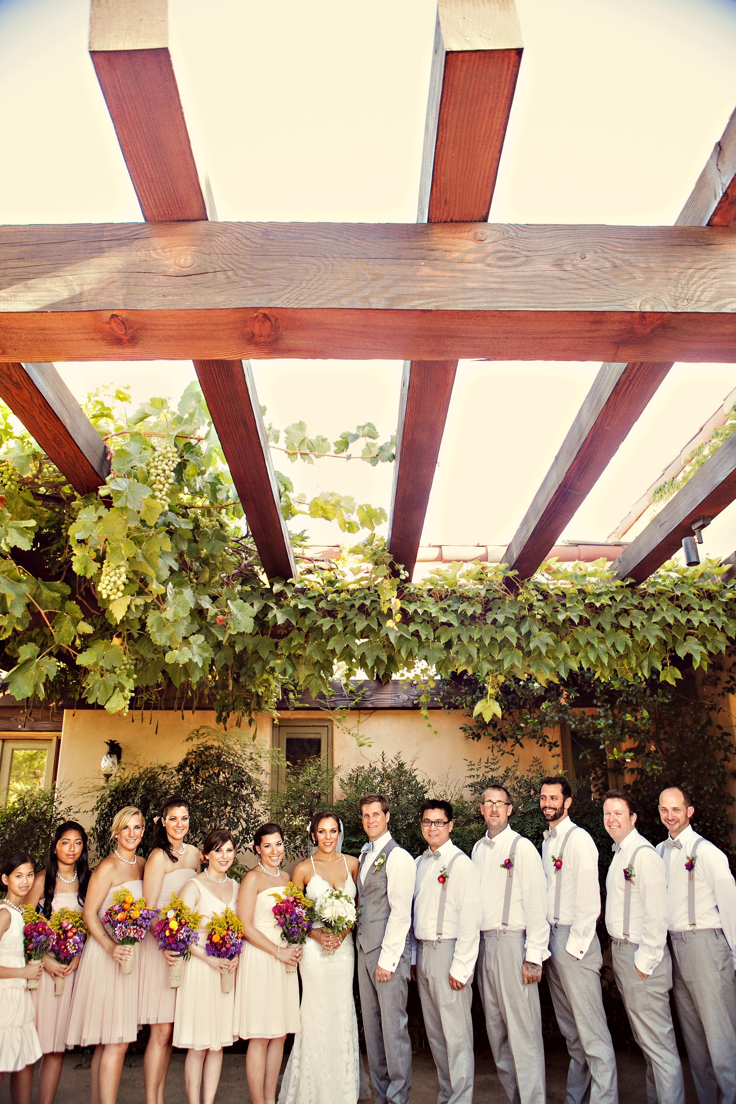 www.santabarbarawedding.com | Andrejka Photography | Red Tail Ranch | Bridal Party
