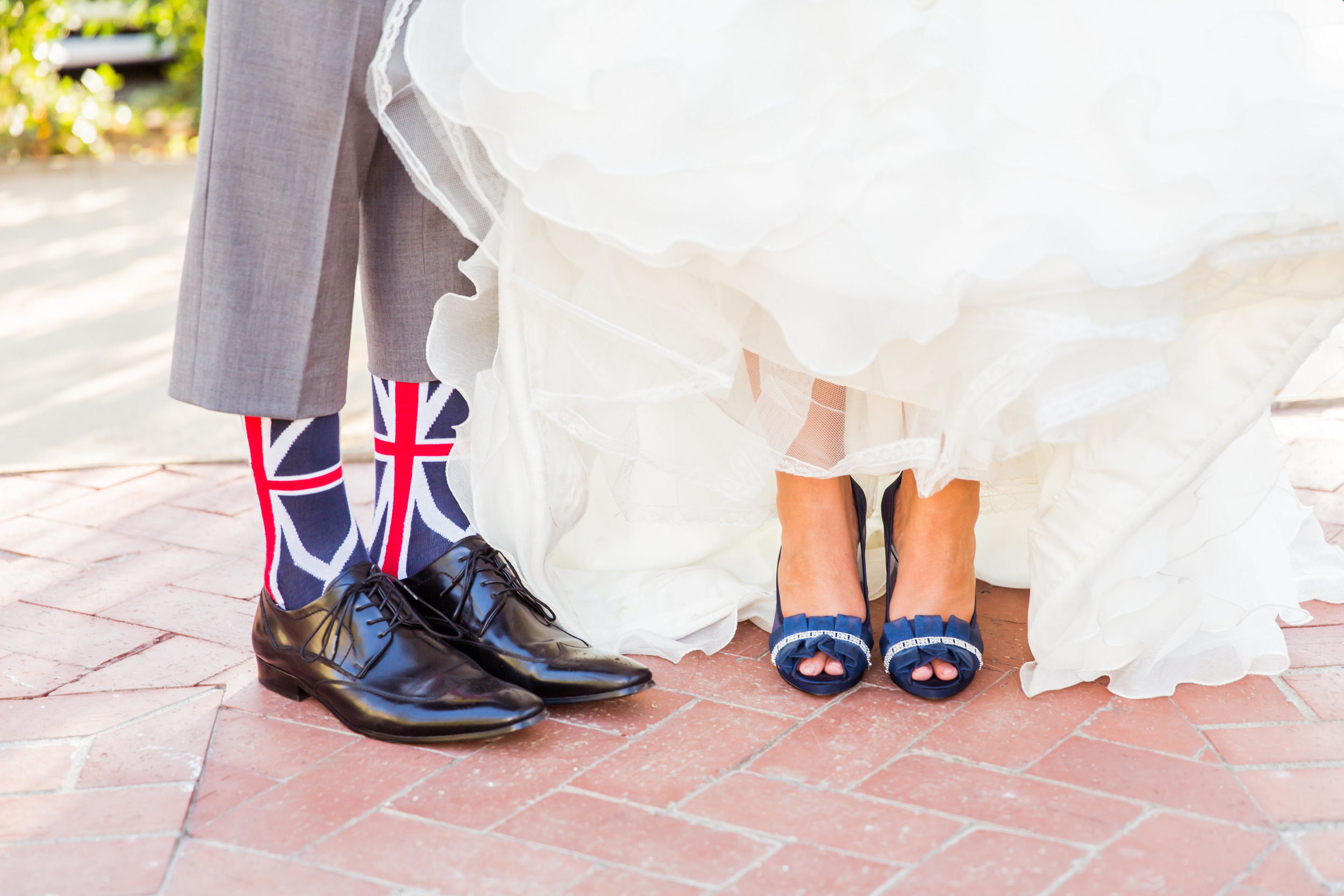 www.santabarbarawedding.com | Santa Barbara Club | Jessica Fairchild Photography | Bride and Groom Shoes