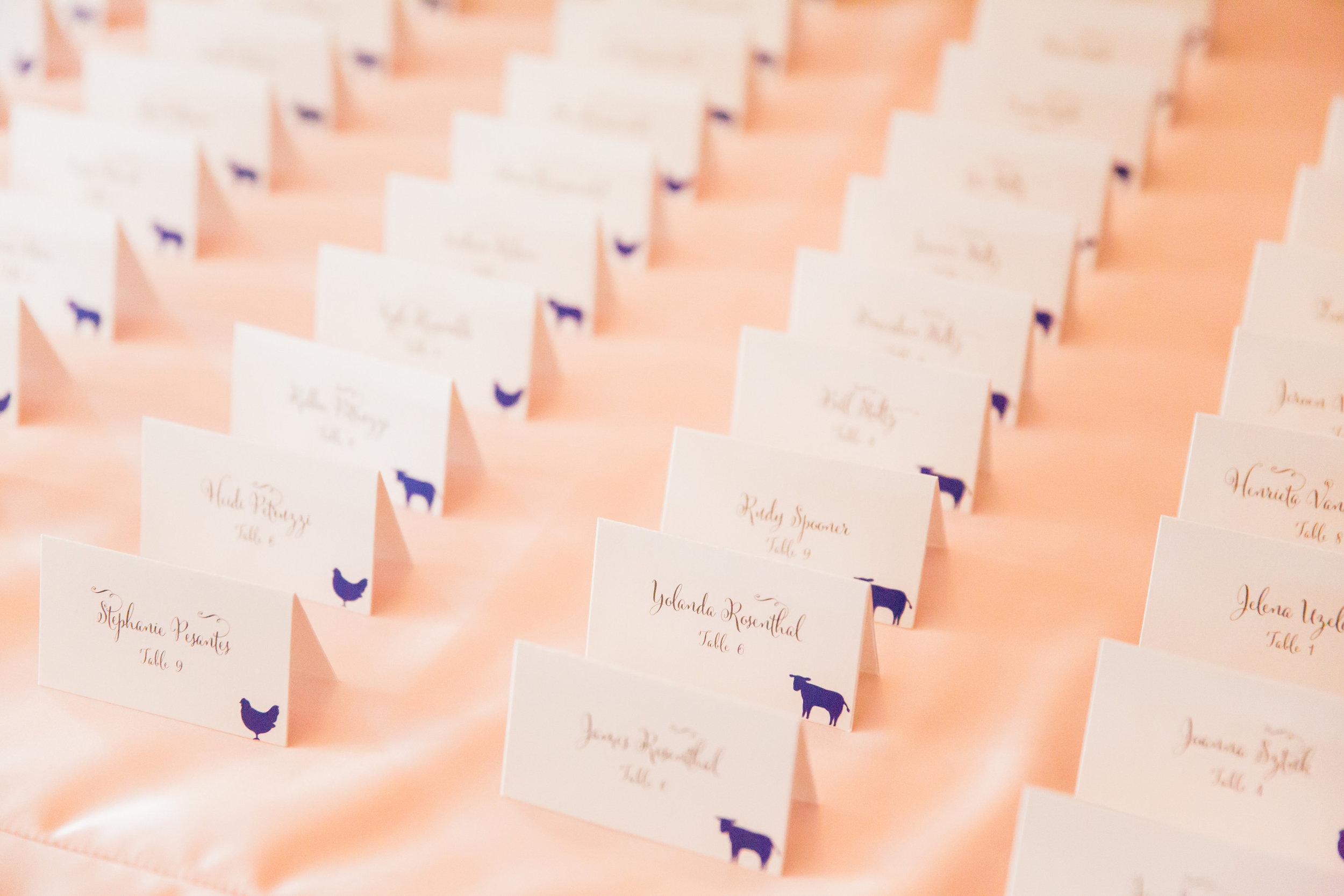 www.santabarbarawedding.com | Santa Barbara Club | Jessica Fairchild Photography | Escort Cards