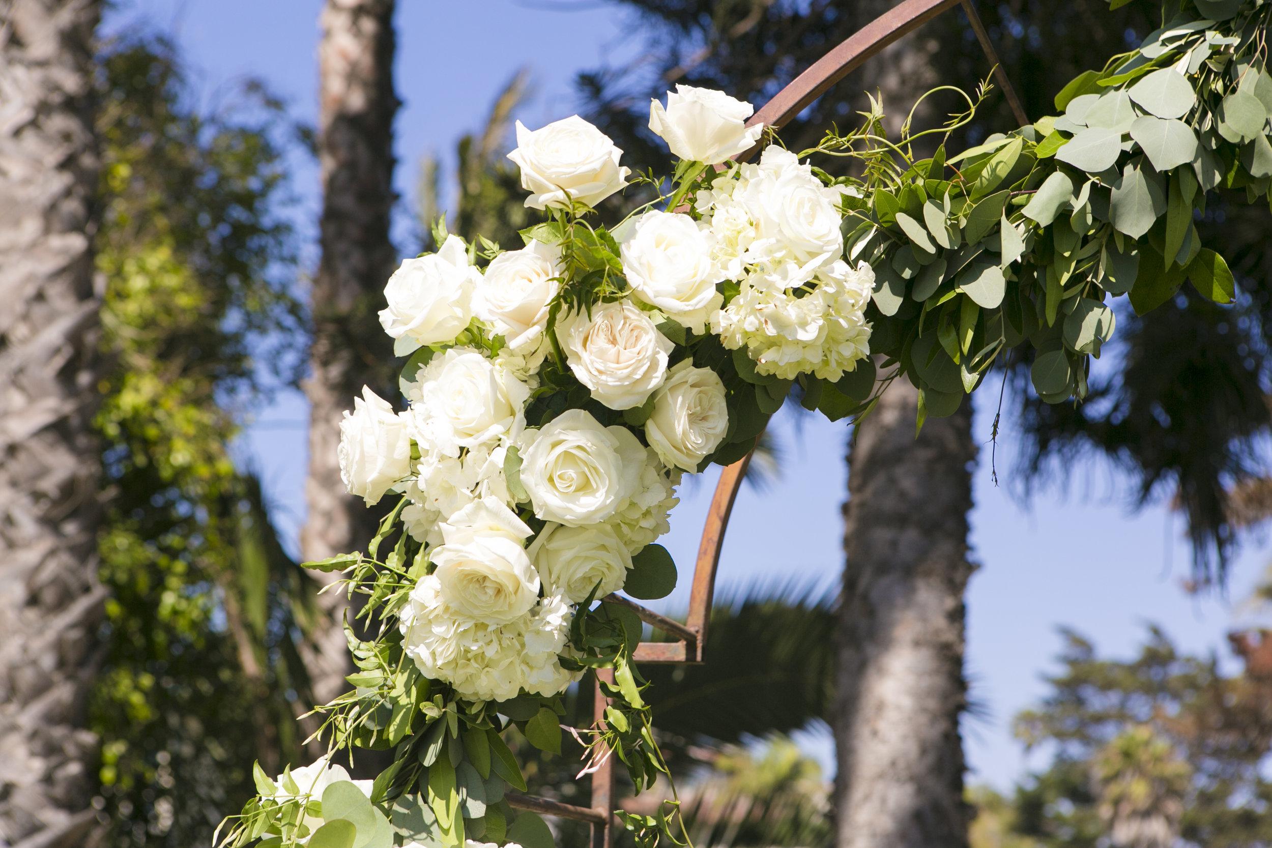 www.santabarbarawedding.com | ByCherry Photography | Felici Events | Convivo Restaurant | Wedding Arch