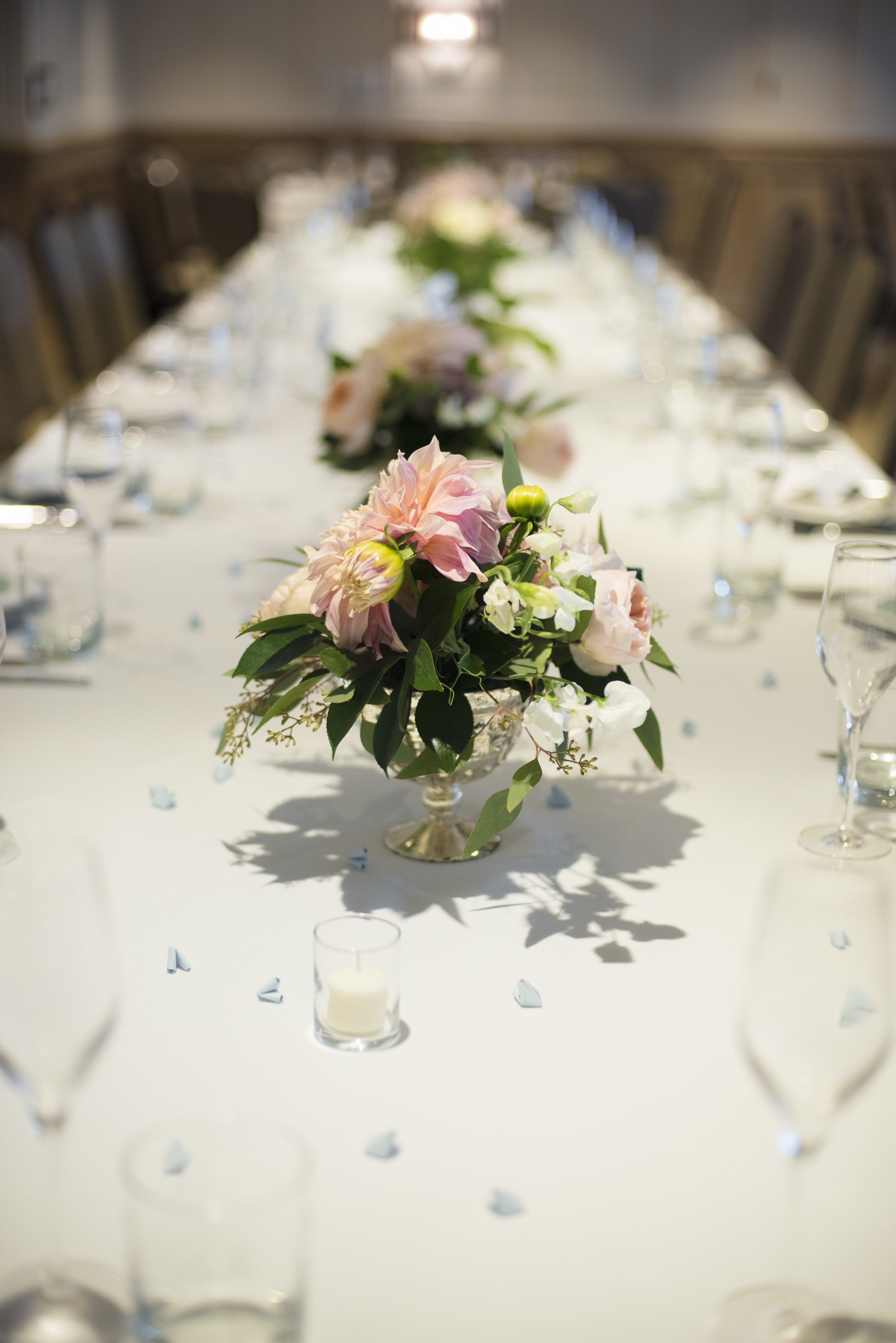 www.santabarbarawedding.com   ByCherry Photography   Felici Events   Convivo Restaurant   Reception Table