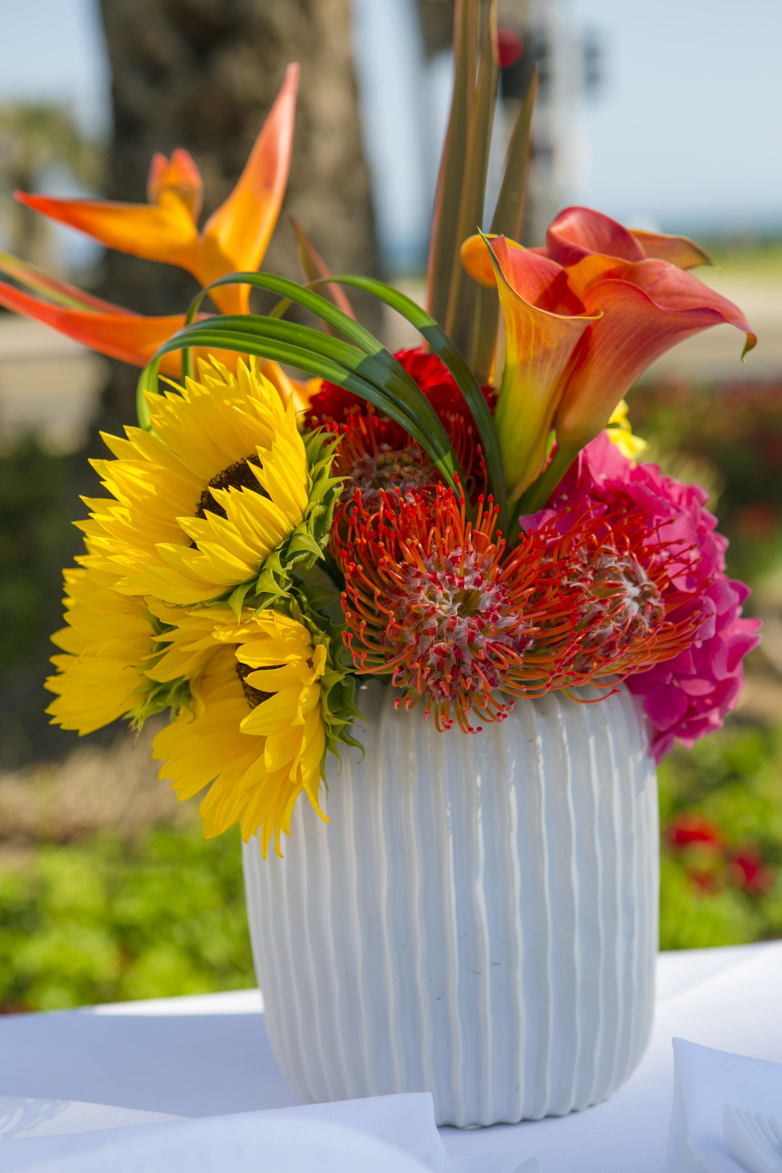 www.santabarbarawedding.com   ByCherry Photography   Felici Events   Convivo Restaurant   Floral Arrangement