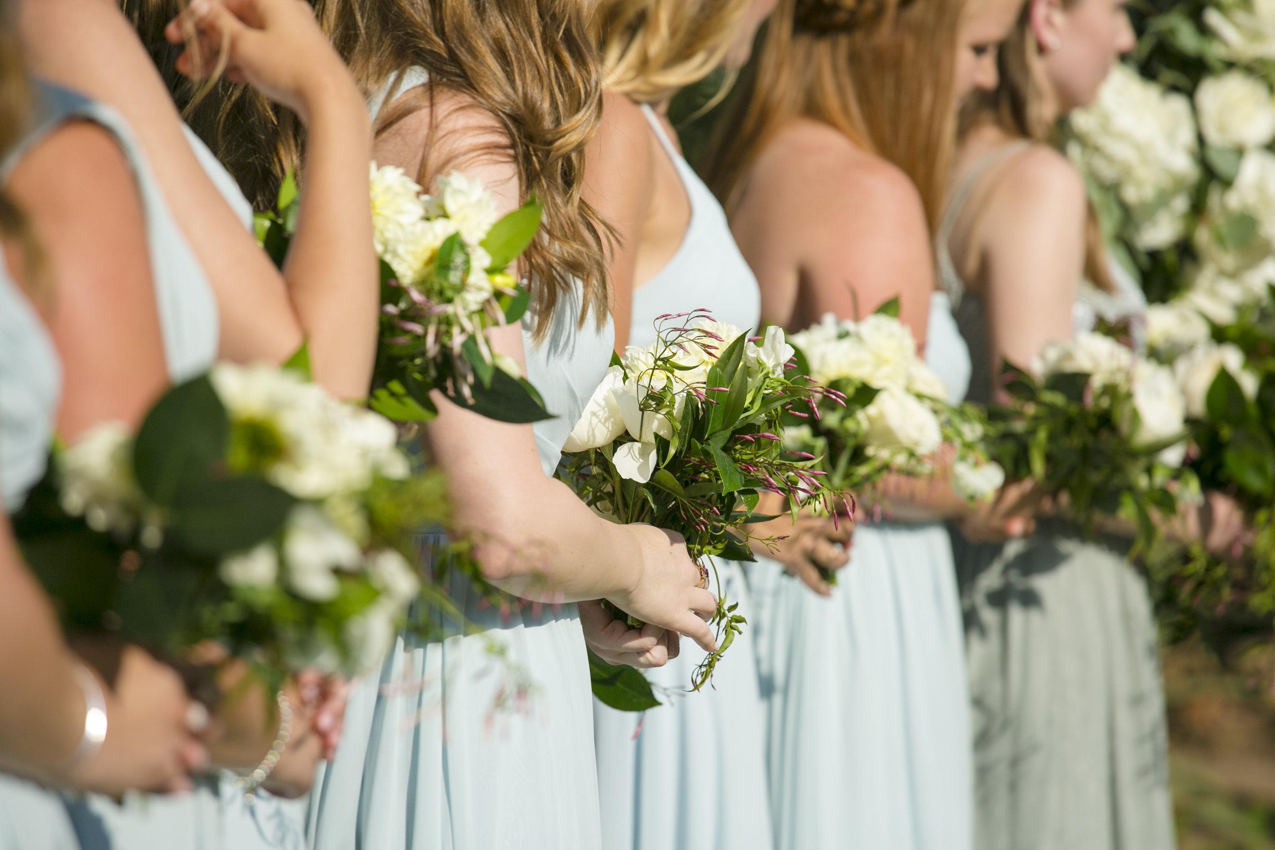 www.santabarbarawedding.com | ByCherry Photography | Felici Events | Convivo Restaurant | Ceremony | Bridesmaids