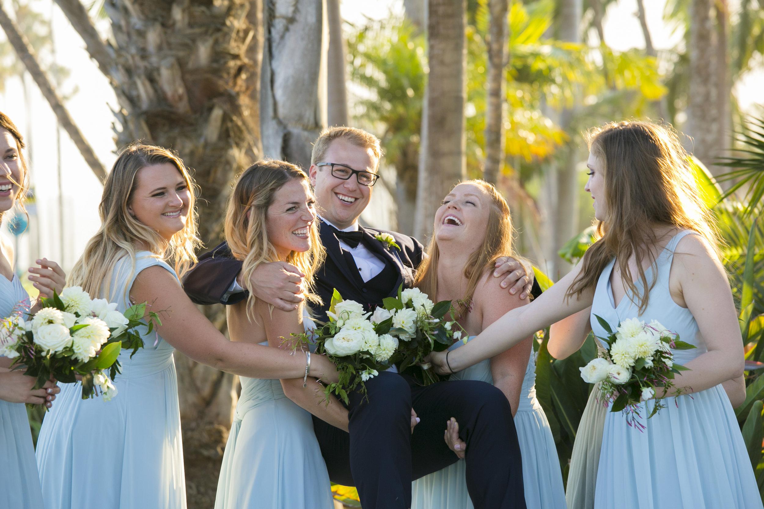 www.santabarbarawedding.com | ByCherry Photography | Felici Events | Convivo Restaurant | Bridesmaids and Groom