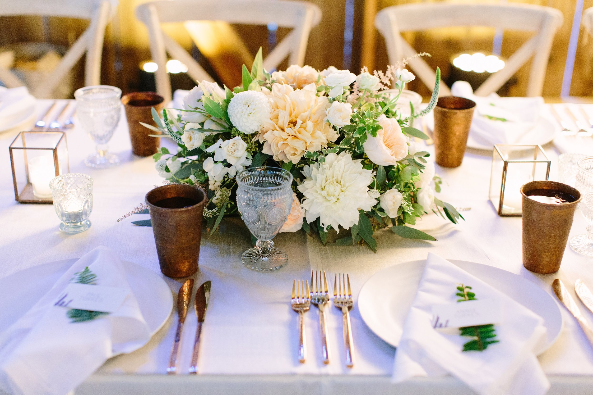 www.santabarbarawedding.com | Dos Pueblos Ranch | Birds of a Feather | Reception Table