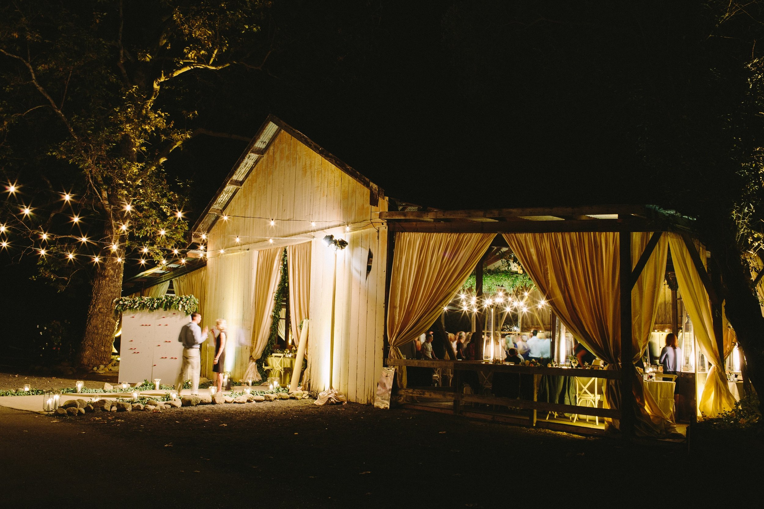 www.santabarbarawedding.com | Dos Pueblos Ranch | Birds of a Feather | Reception at Night