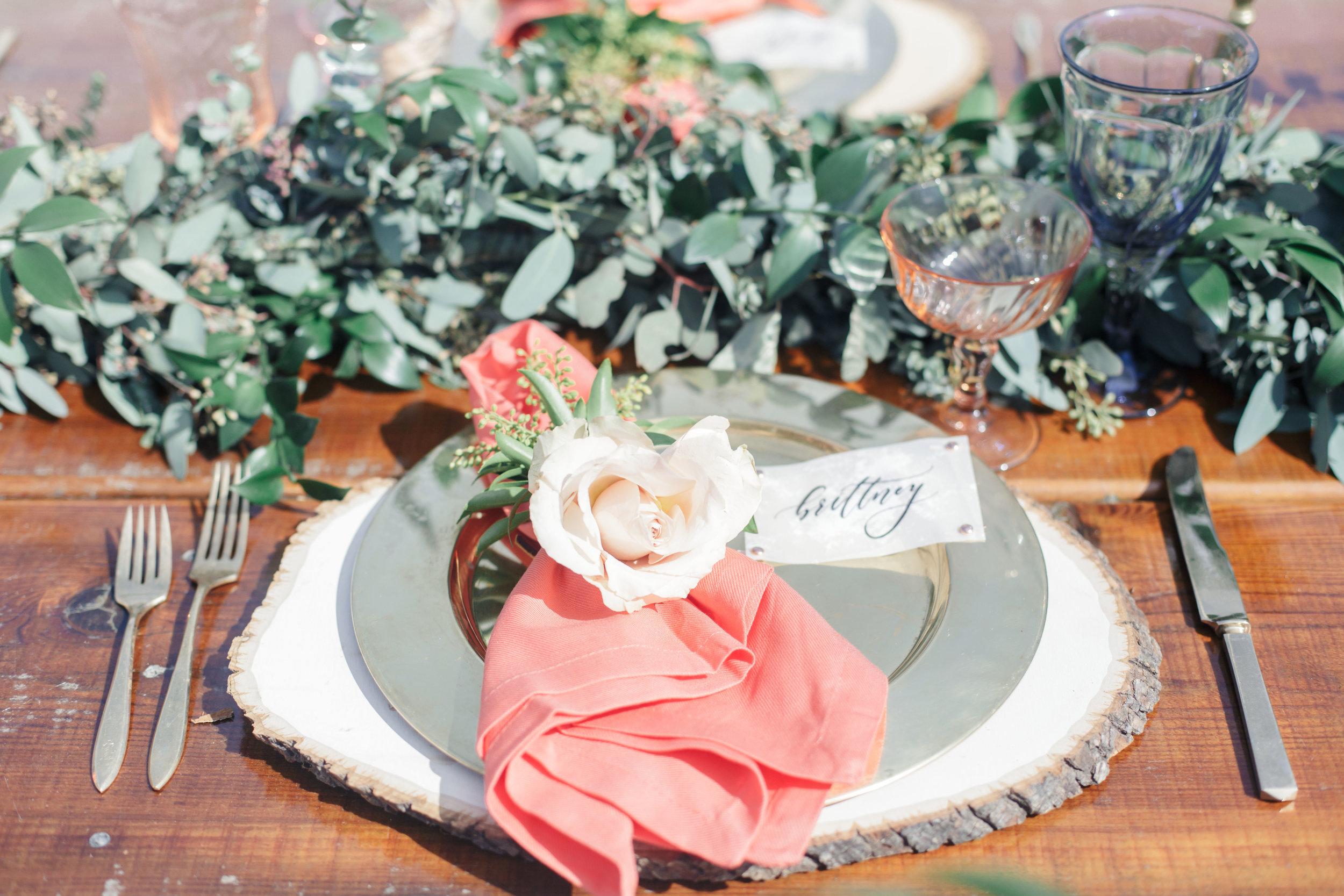 www.santabarbarawedding.com   Molly + Co   Sogno Del Fiore   Place Setting
