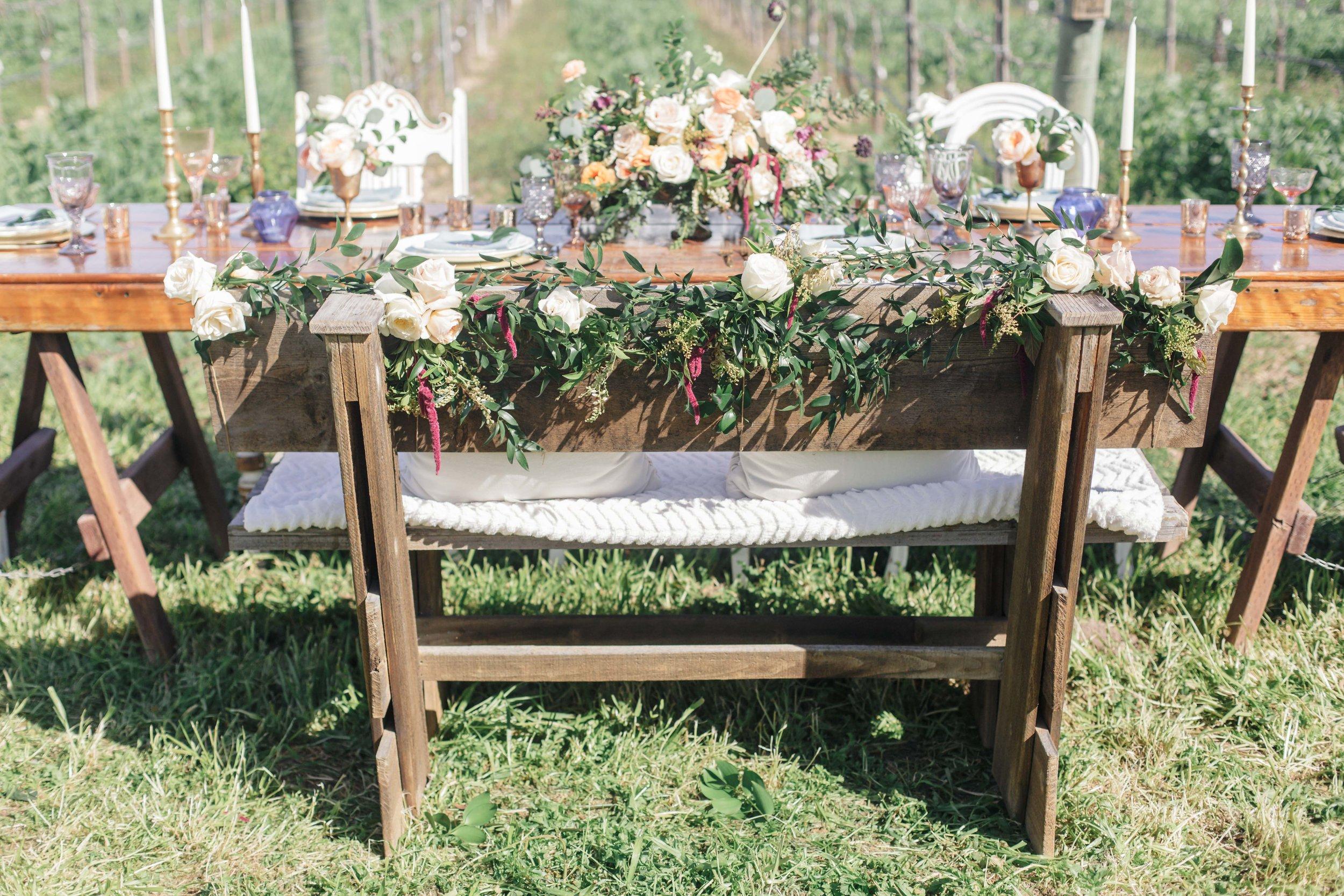 www.santabarbarawedding.com   Molly + Co   Sogno Del Fiore   Reception Table